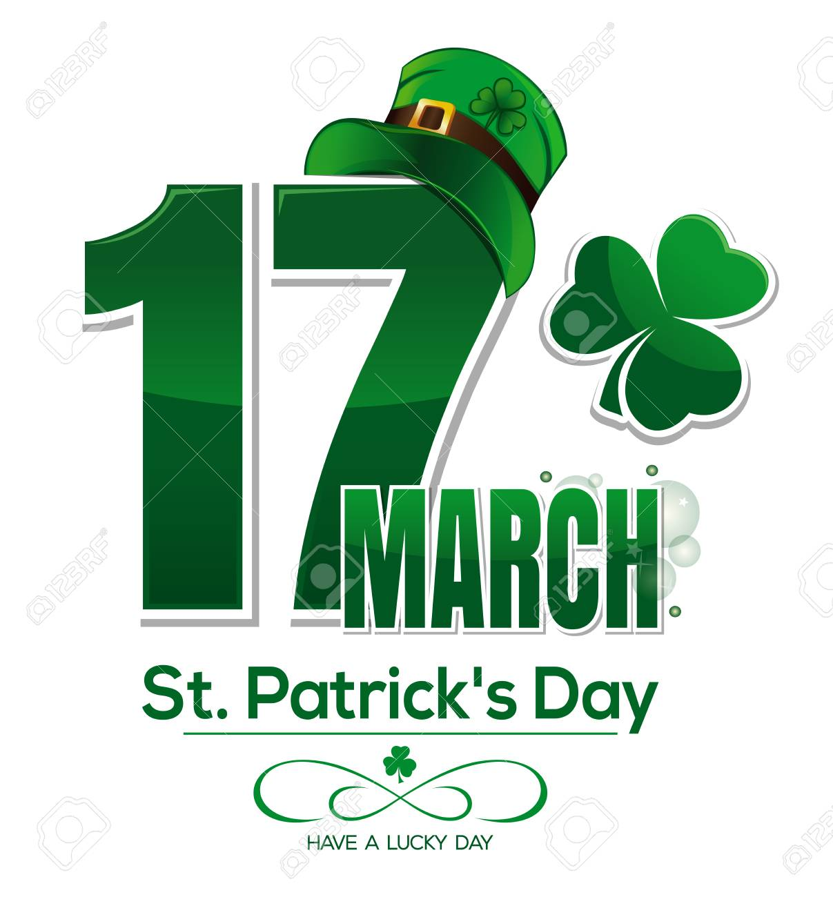 Design For 17 March Feast Of Saint Patrick Greeting Card For