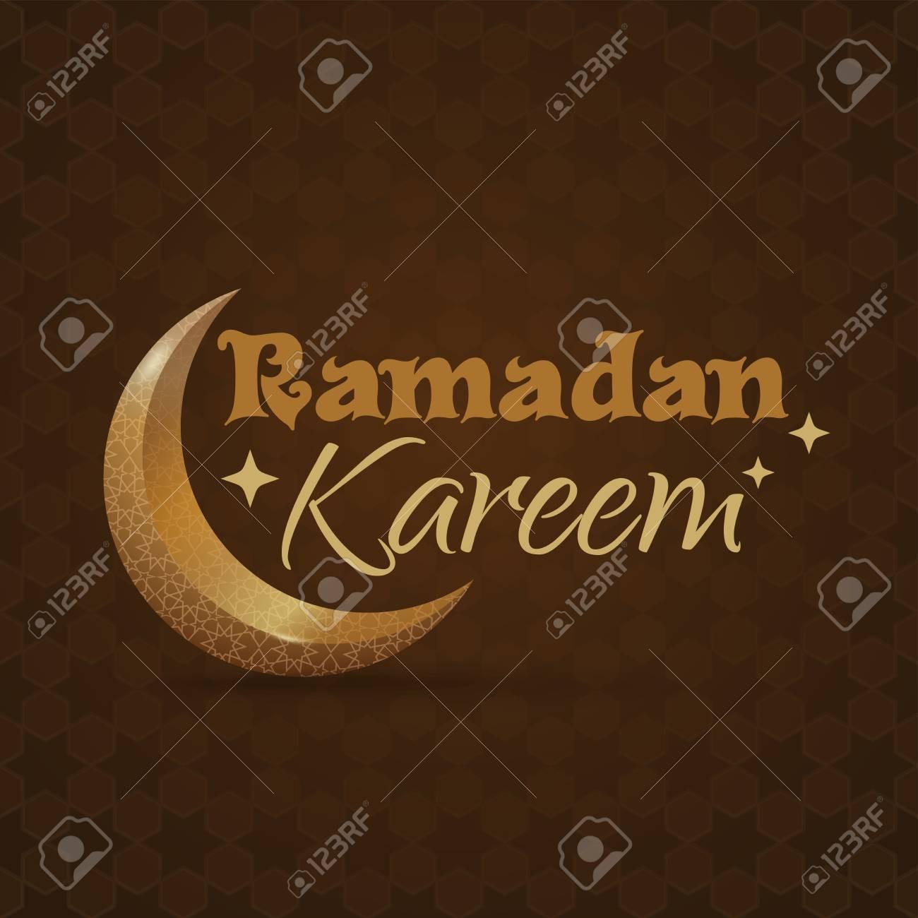Greeting card for ramadan islamic design with crescent moon greeting card for ramadan islamic design with crescent moon and traditional islamic greeting ramadan m4hsunfo