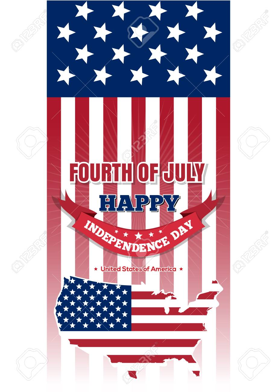Independence Day design. Fourth of July. United States map on.. on independence ohio map, tocqueville 1831 u s states map, independence ca, usa map, independence us flag, city of independence ia map, fort independence location on map,