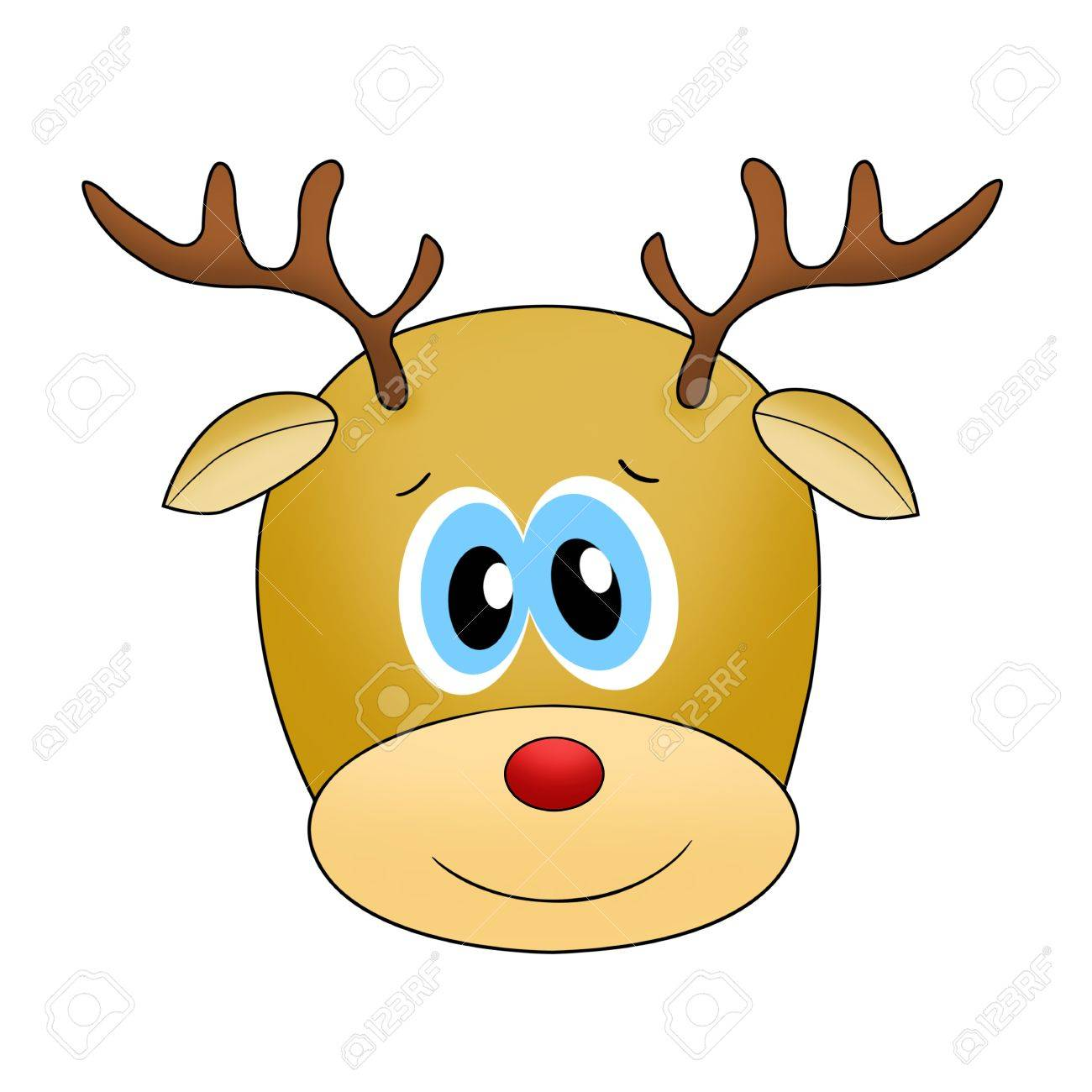 Uncategorized Raindeer Face reindeer face isolated on white stock photo picture and royalty 11708929