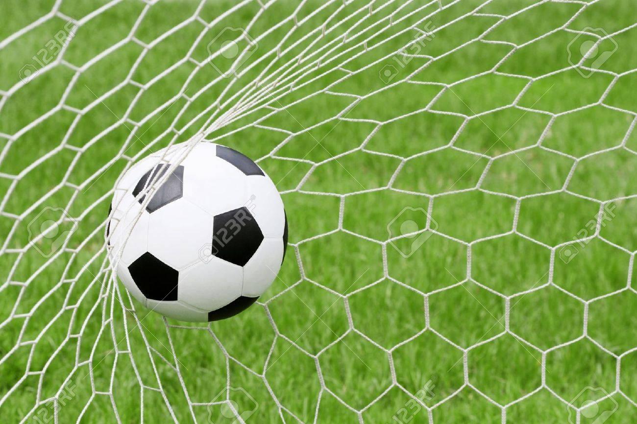 Soccer ball in net Stock Photo - 15487977