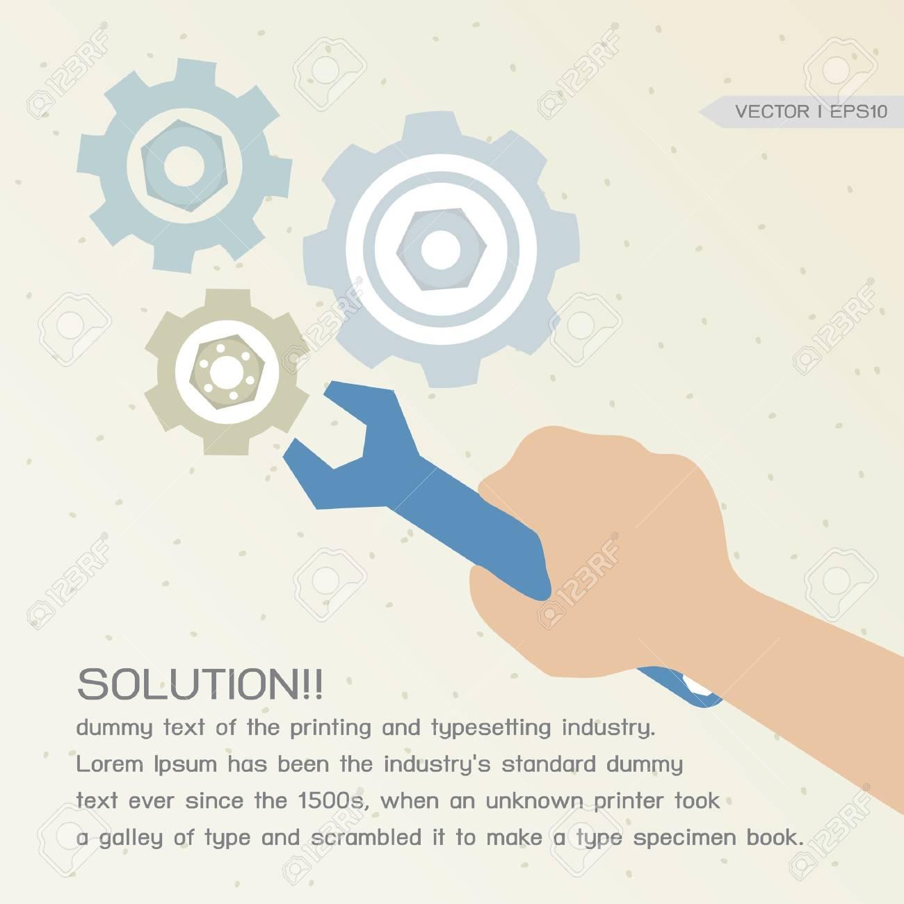 Solution Conceptual Stock Vector - 16729869