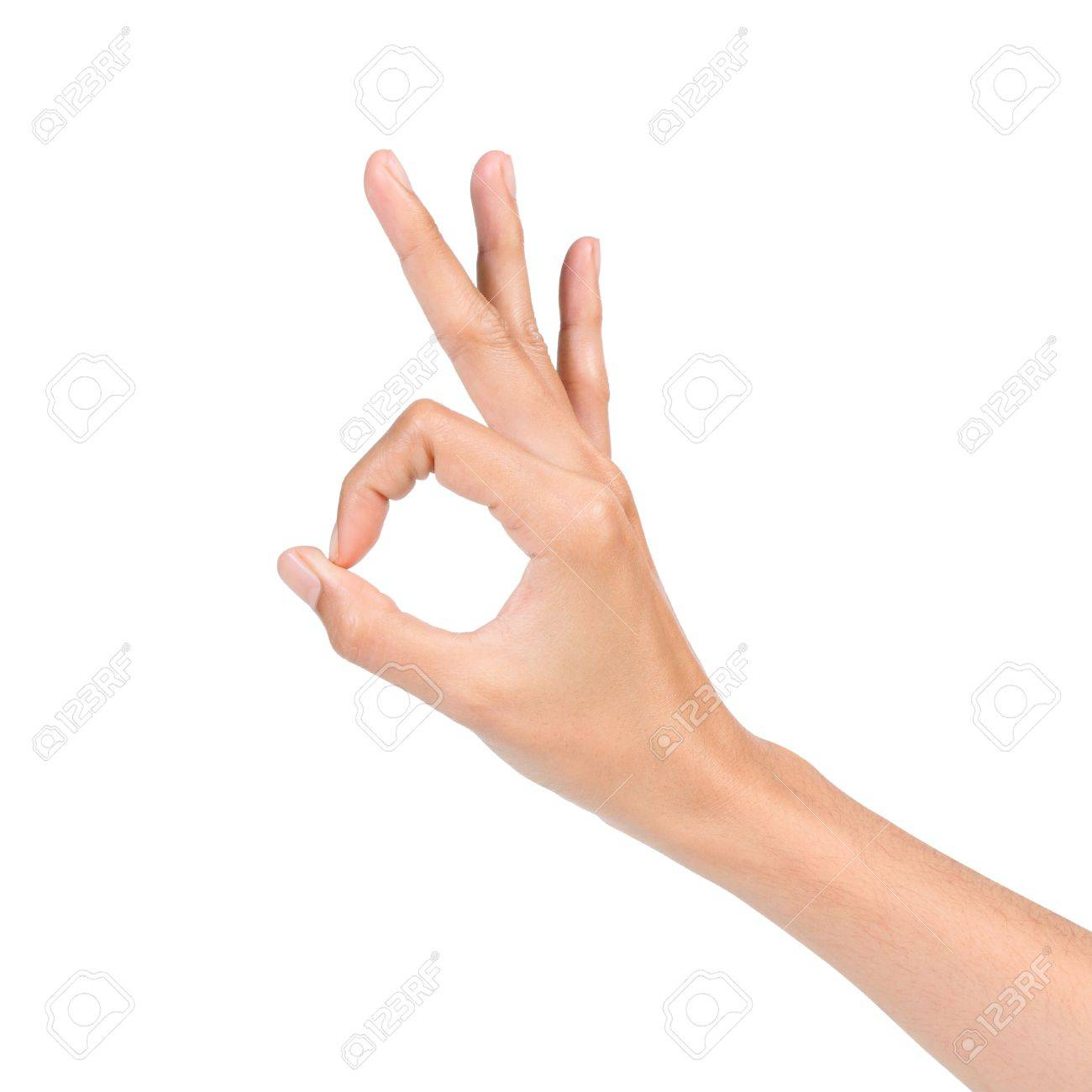 hand ok sign isolated on white background stock photo picture and