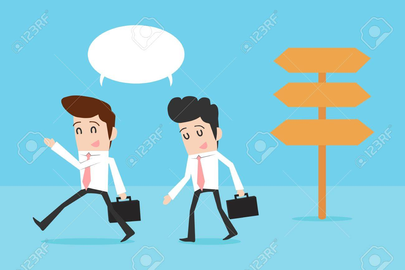 Businessman leading the way Stock Vector - 19202216