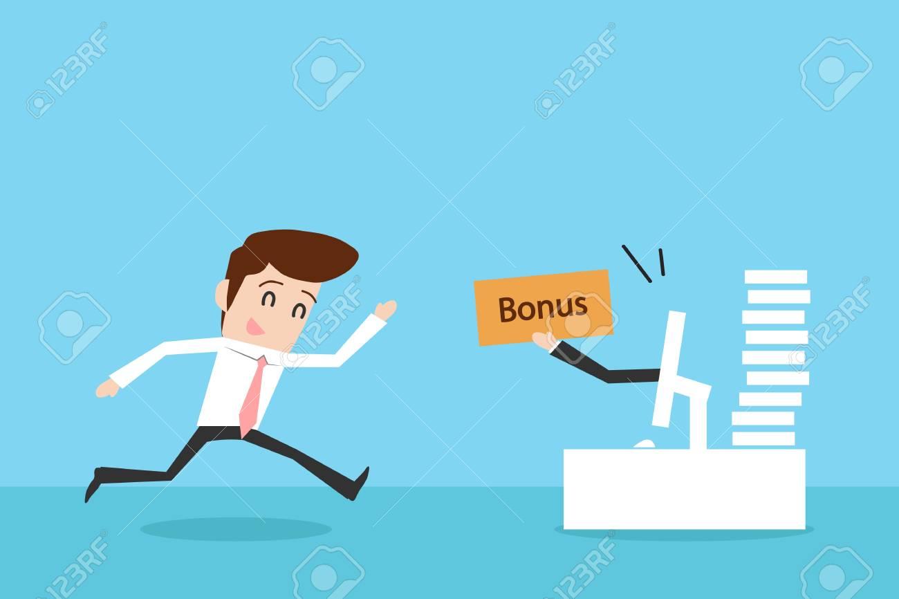 Businessman and bonus Stock Vector - 19378293