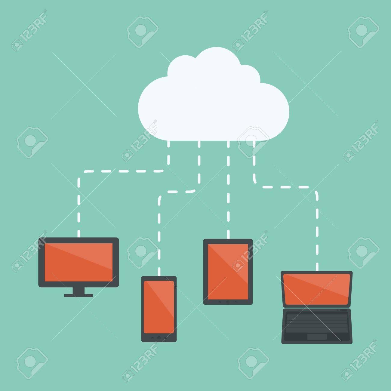 Cloud computing Stock Vector - 19582269
