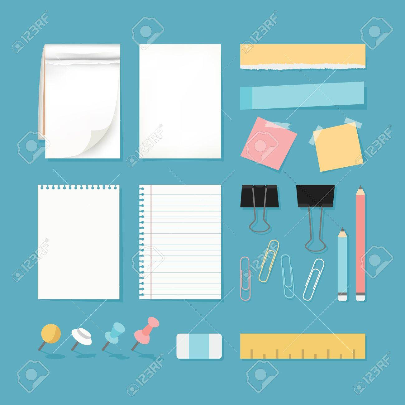 Paper and stationery, vector Stock Vector - 19582274