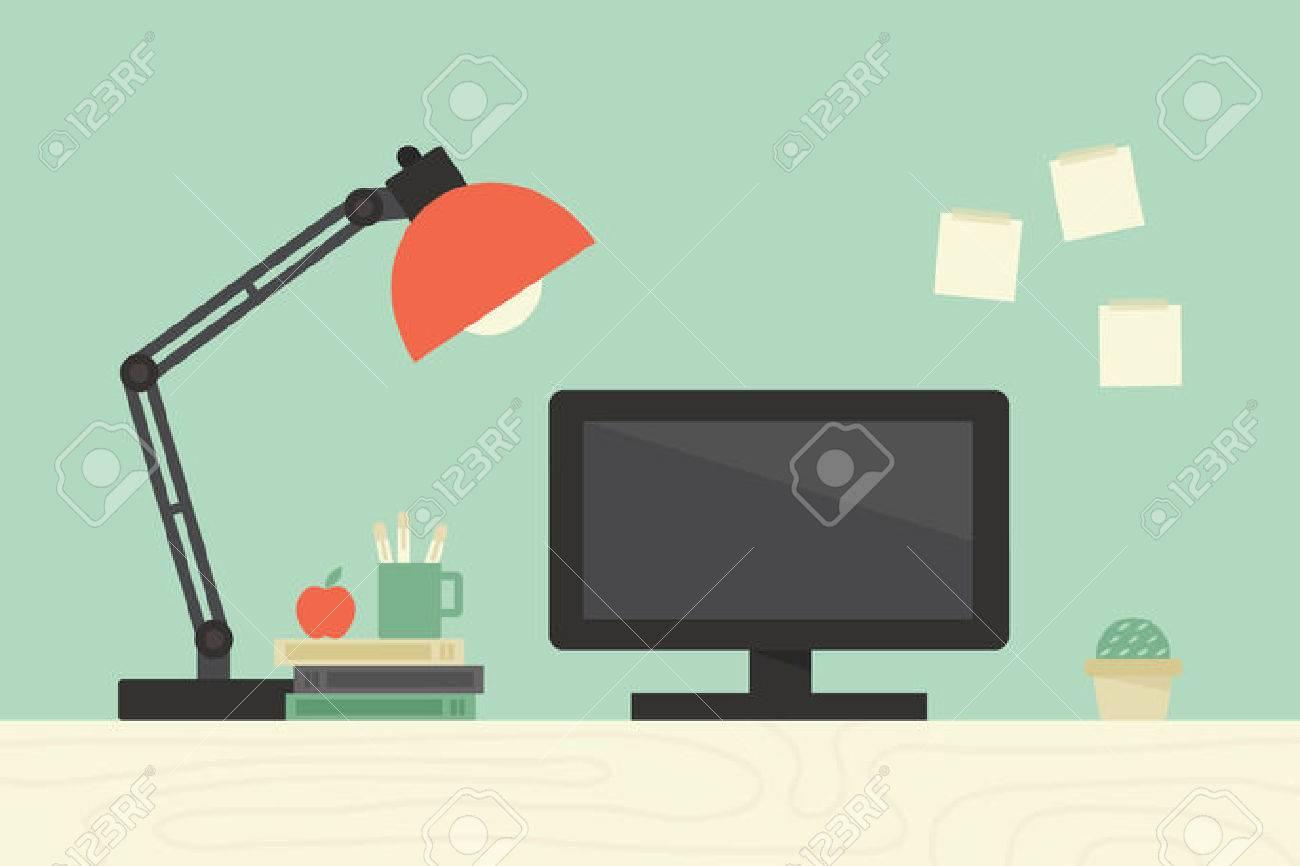 Computer desk, workplace - 34093156