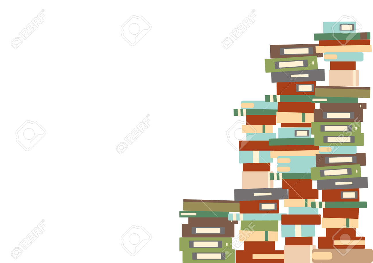 Multiple books piled up - 160573272