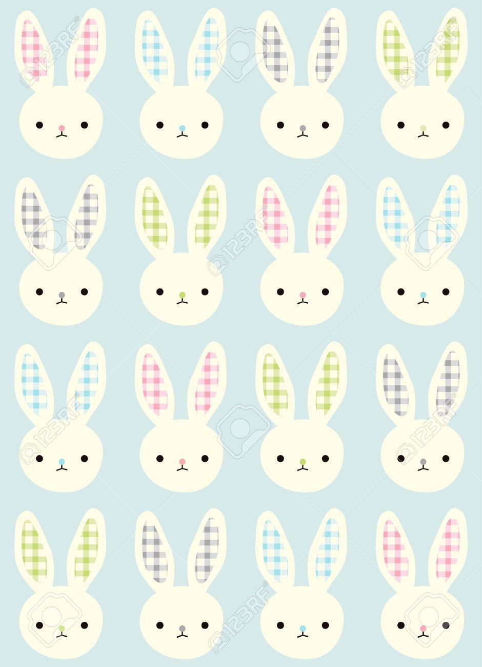シームレスなウサギ パターン壁紙のイラスト素材 ベクタ Image