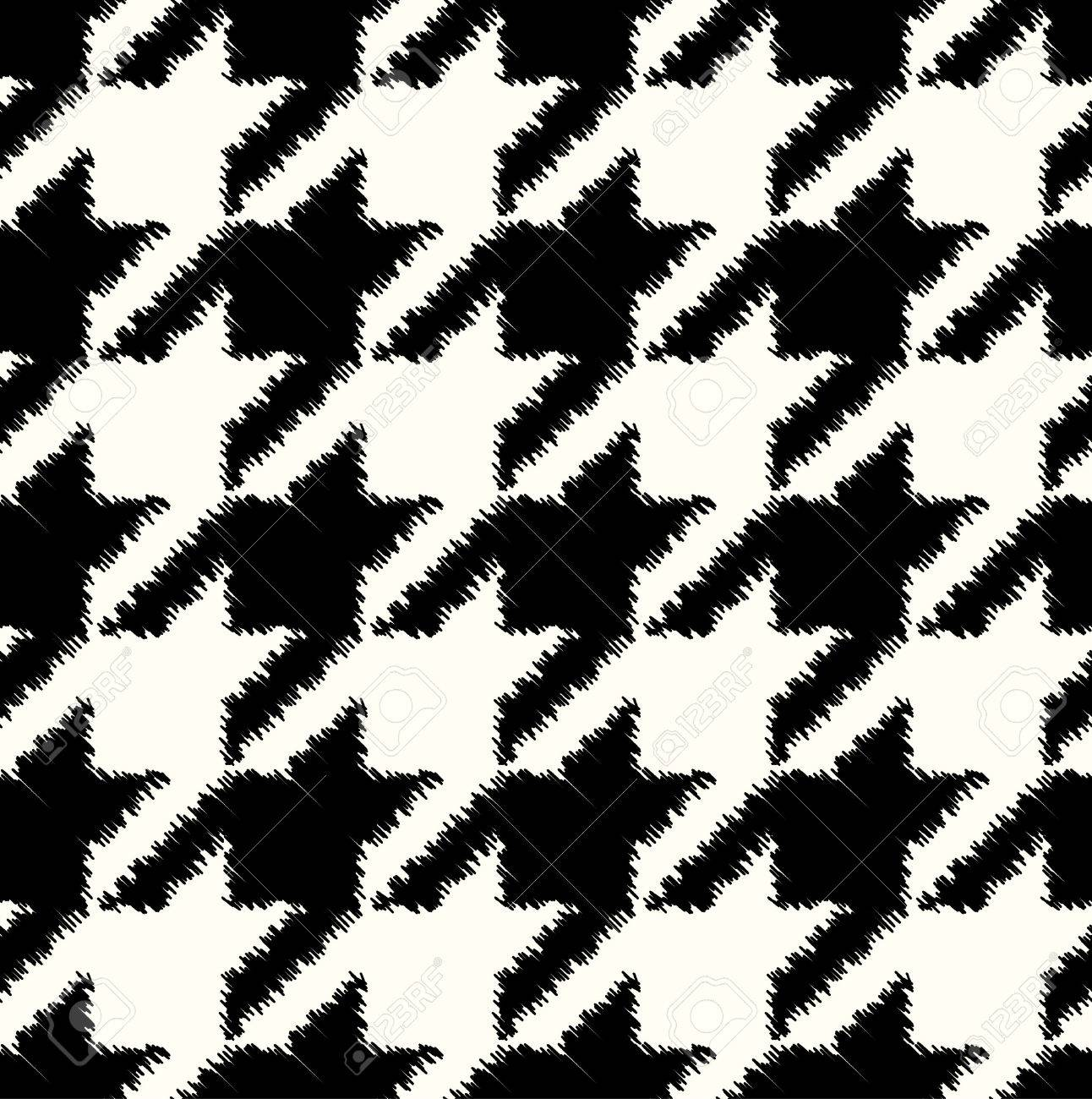 Seamless black and white checkered texture stock images image - Seamless Black And White Houndstooth Checkered Pattern Stock Vector 35082532