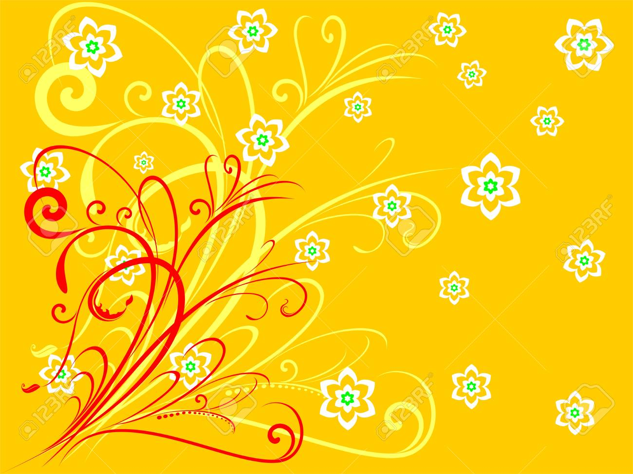 Abstract floral motif for background or wallpaper - 10729698