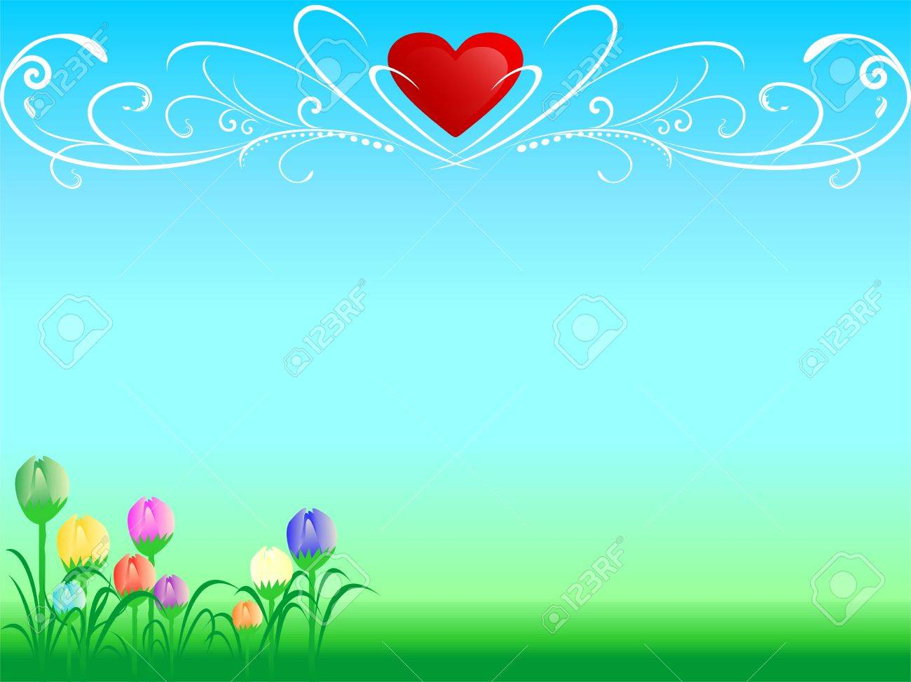 Abstract love background - 10748468