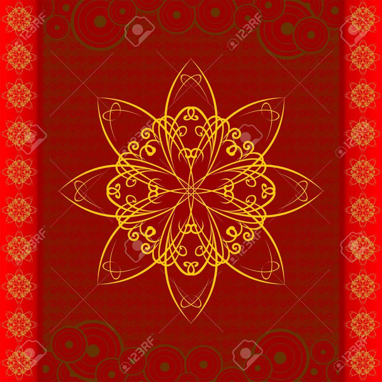 Oriental Floral pattern - 10748476