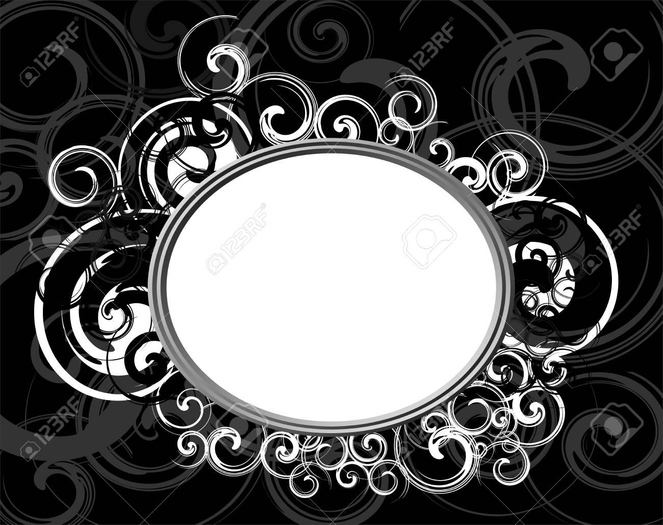 Illustration of Black Retro frame - 10748473