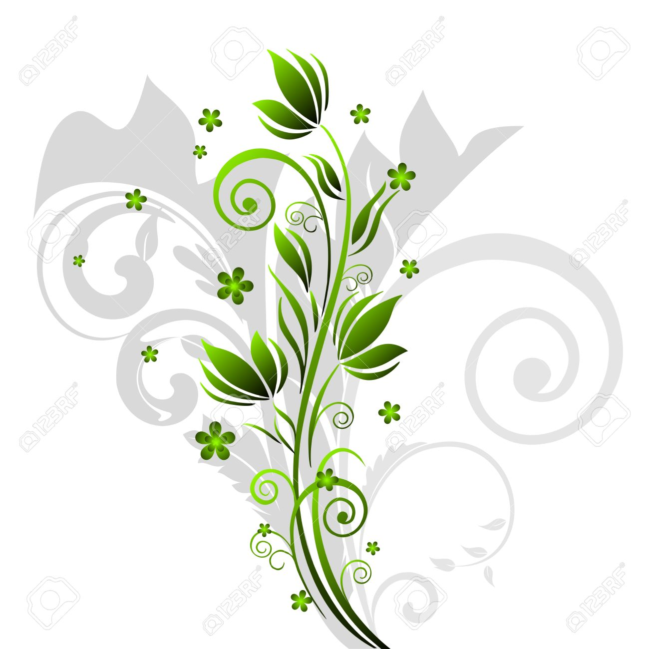 Abstract Floral motif background - 10779025