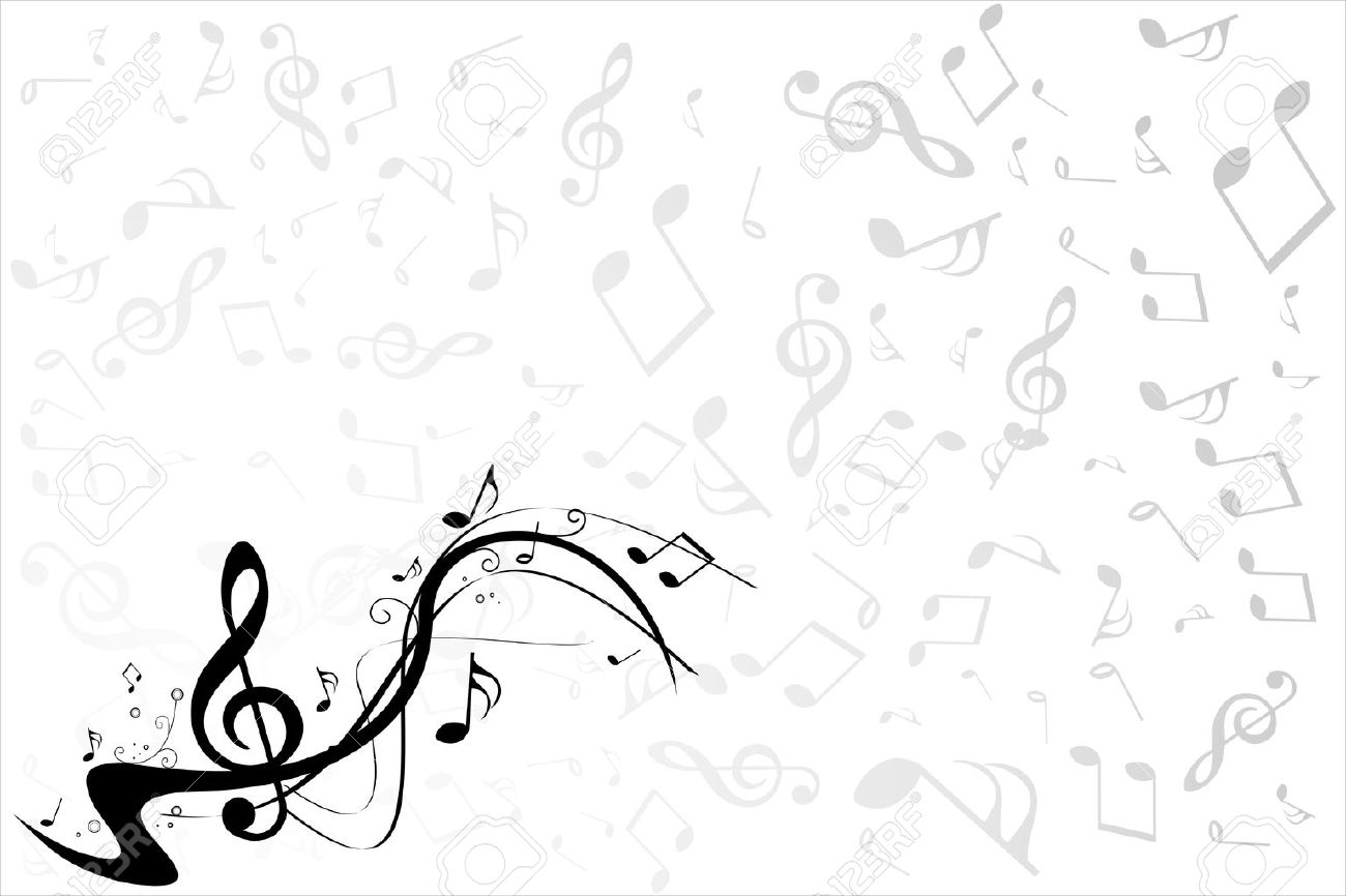 Music note background - 10779028
