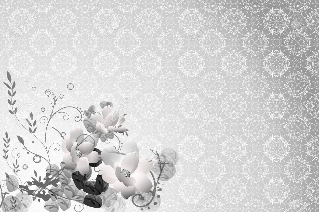 Flower Background with Floral pattern - 10889113