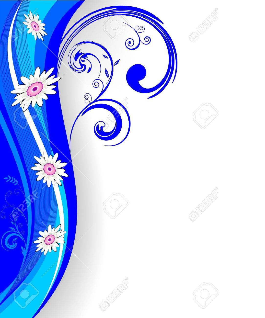 Abstract Floral motif for background or wallpaper - 10889111