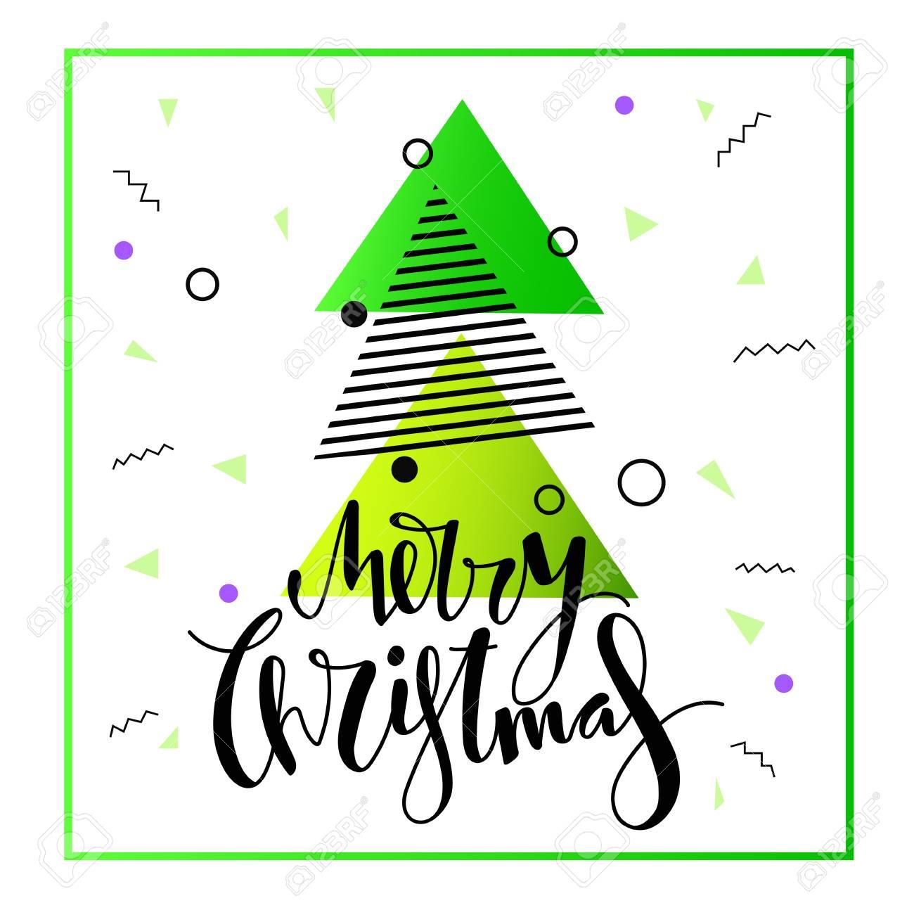 Frohe Weihnachten Design. Handgeschriebene Schrift Für Grußkarten ...