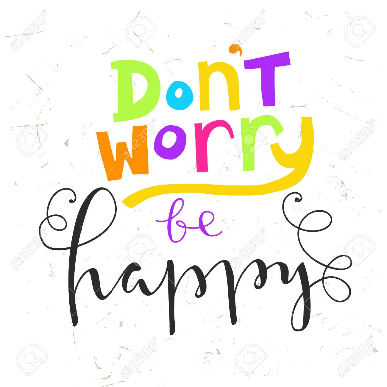 Stock illustration 3d red text quot yes quot stock illustration royalty - Dont Worry Be Happy Dont Worry Be Happy Hand Lettering Quote