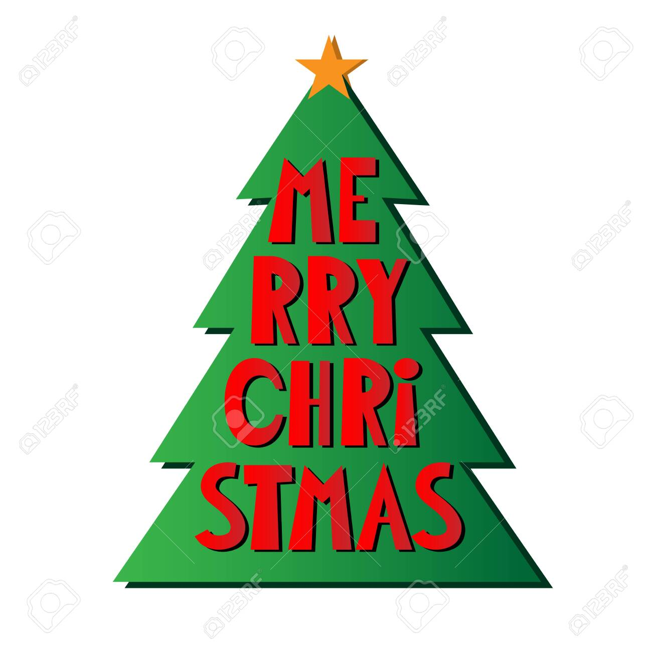 Simple Cartoon Xmas Tree With Star And Text Merry Christmas Vector Royalty Free Cliparts Vectors And Stock Illustration Image 124289106 Take a look at our large collection of festive coloring sheets. simple cartoon xmas tree with star and text merry christmas vector