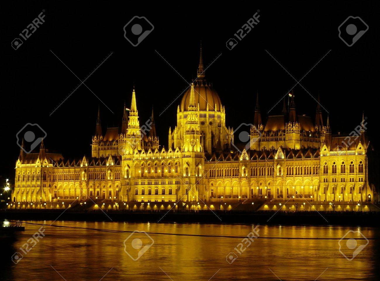The building of Hungarian Parliament, Budapest, Hungary Stock Photo - 10355969