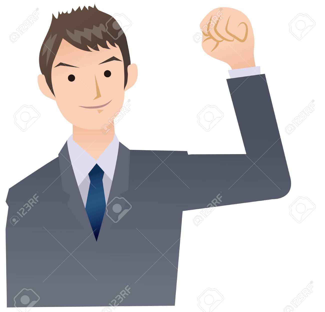 Pose of businessman yell Stock Vector - 18286742