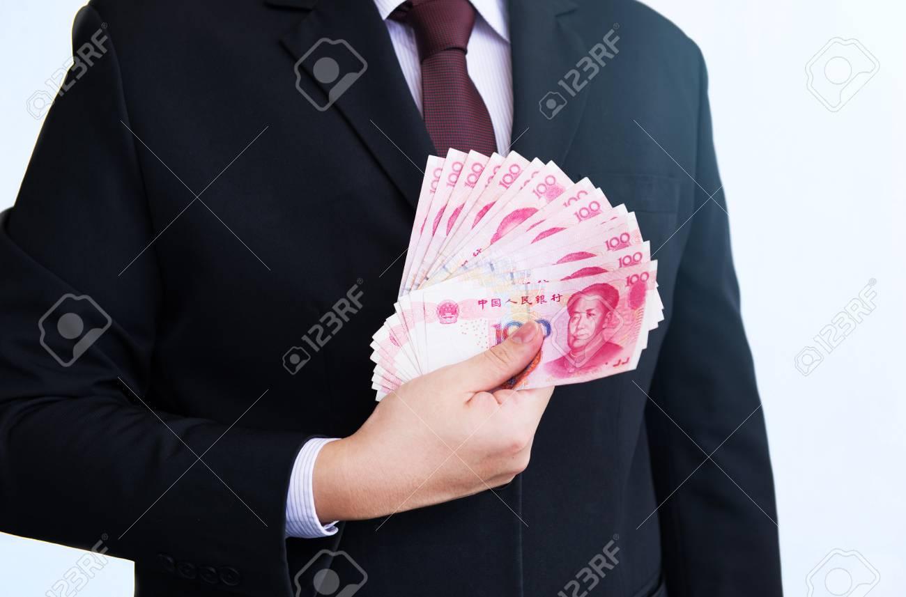Halten Yuan RMB Oder, Chinesische Währung Lizenzfreie Fotos, Bilder ...
