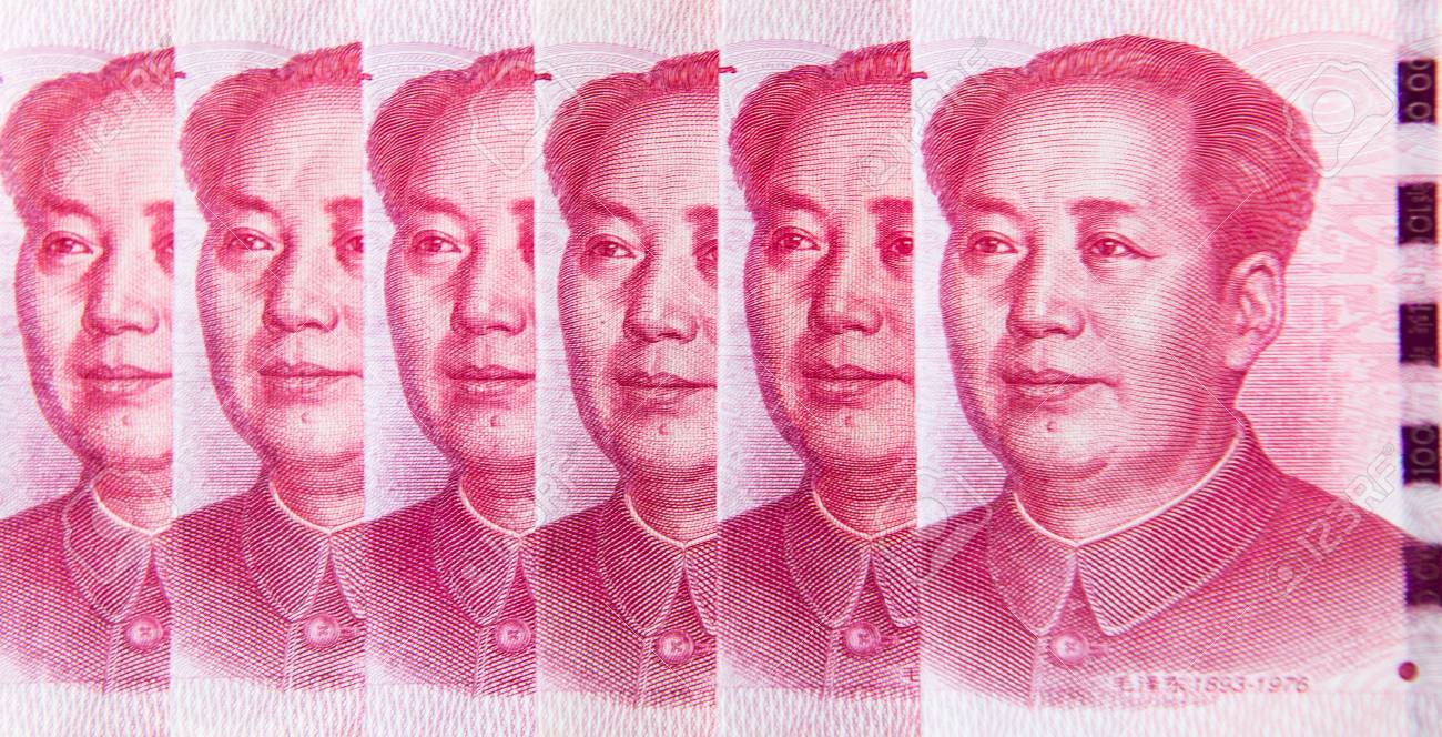 The close up of President Mao on Yuan or RMB, Chinese Currency
