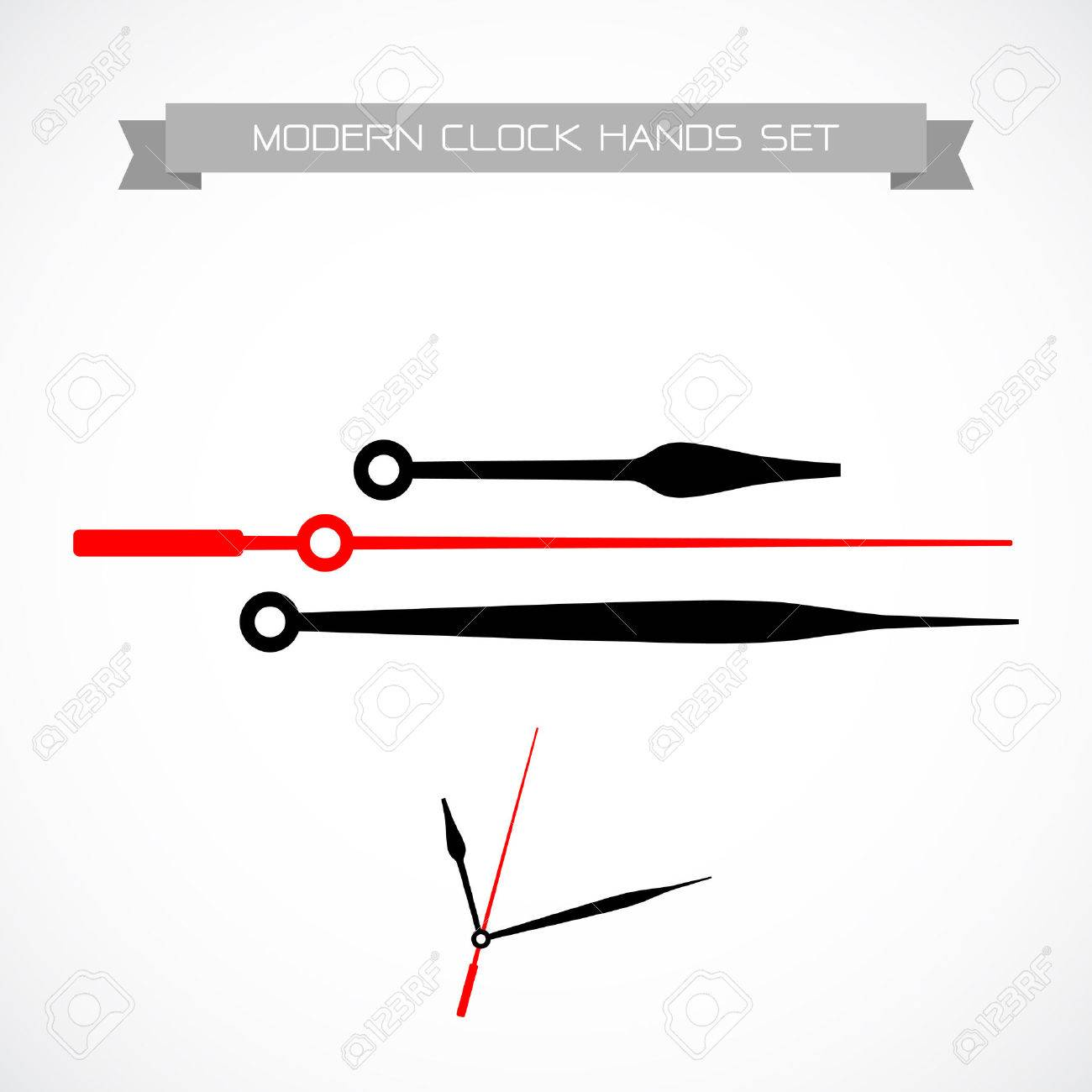 clock hands vector isolated on a white background royalty free rh 123rf com Clock Template vector clock without hands