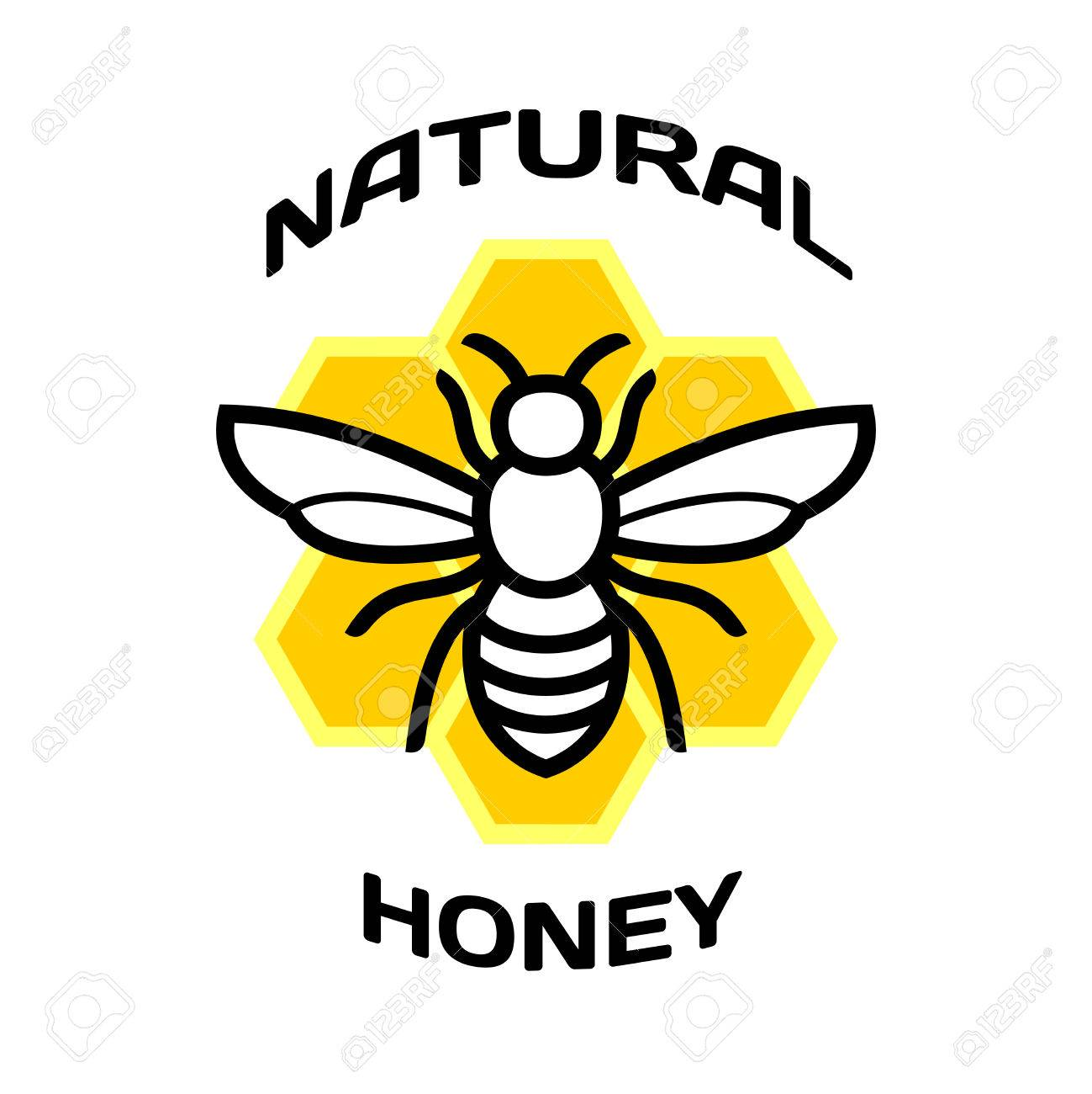 bee icon natural honey package logo royalty free cliparts vectors rh 123rf com honey bee logs honey bee mascot