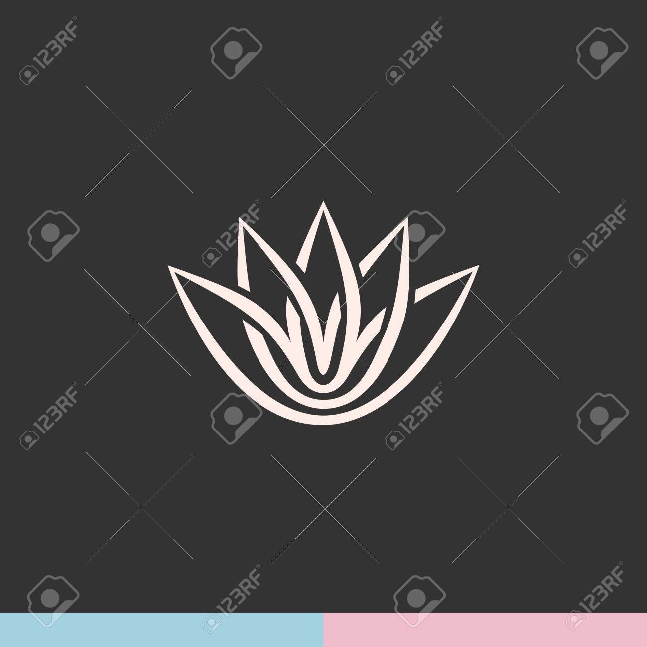 Lotus flower silhouette logo royalty free cliparts vectors and lotus flower silhouette logo stock vector 41658962 izmirmasajfo