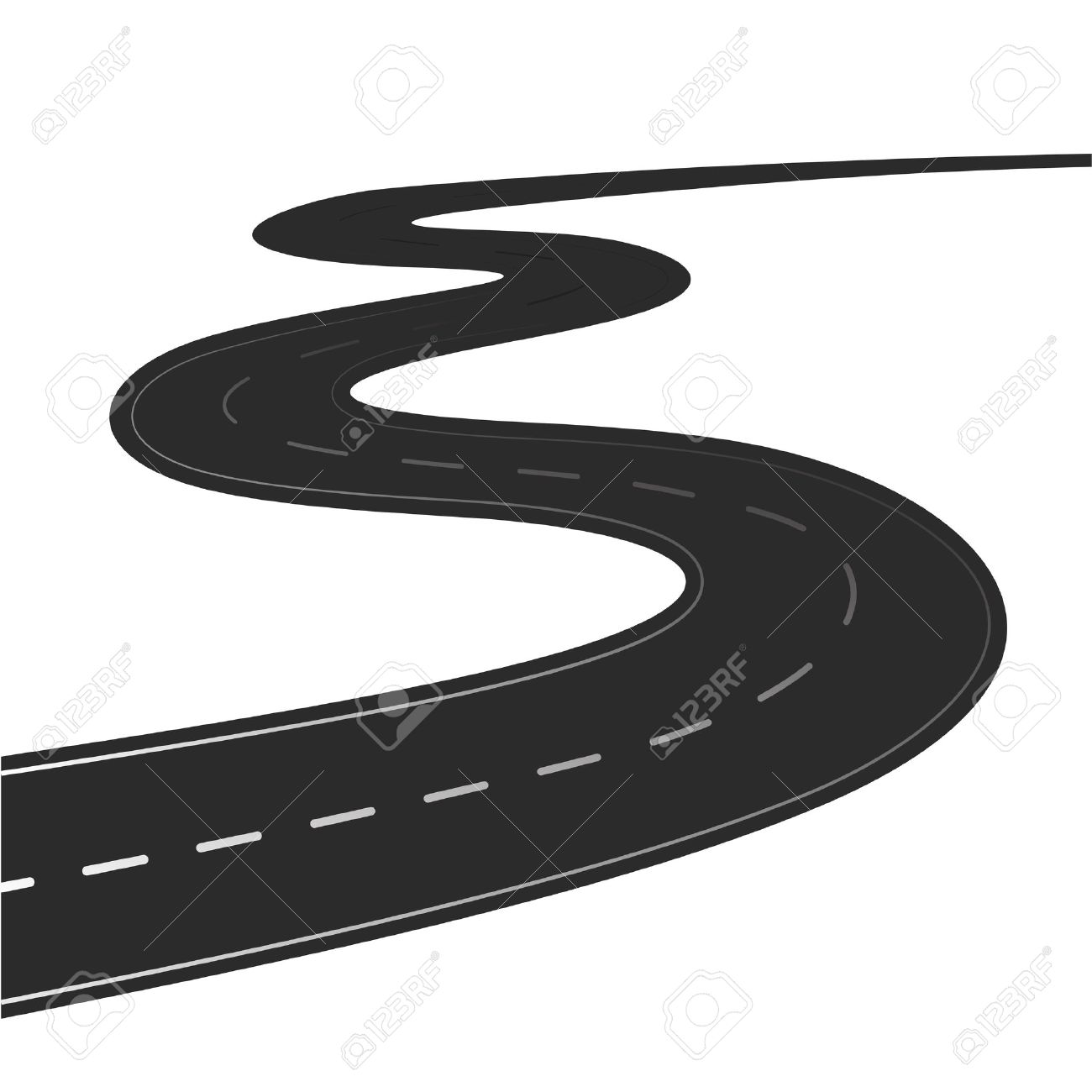 winding road vector illustration isolated on a white background rh 123rf com road vector free road vector psd