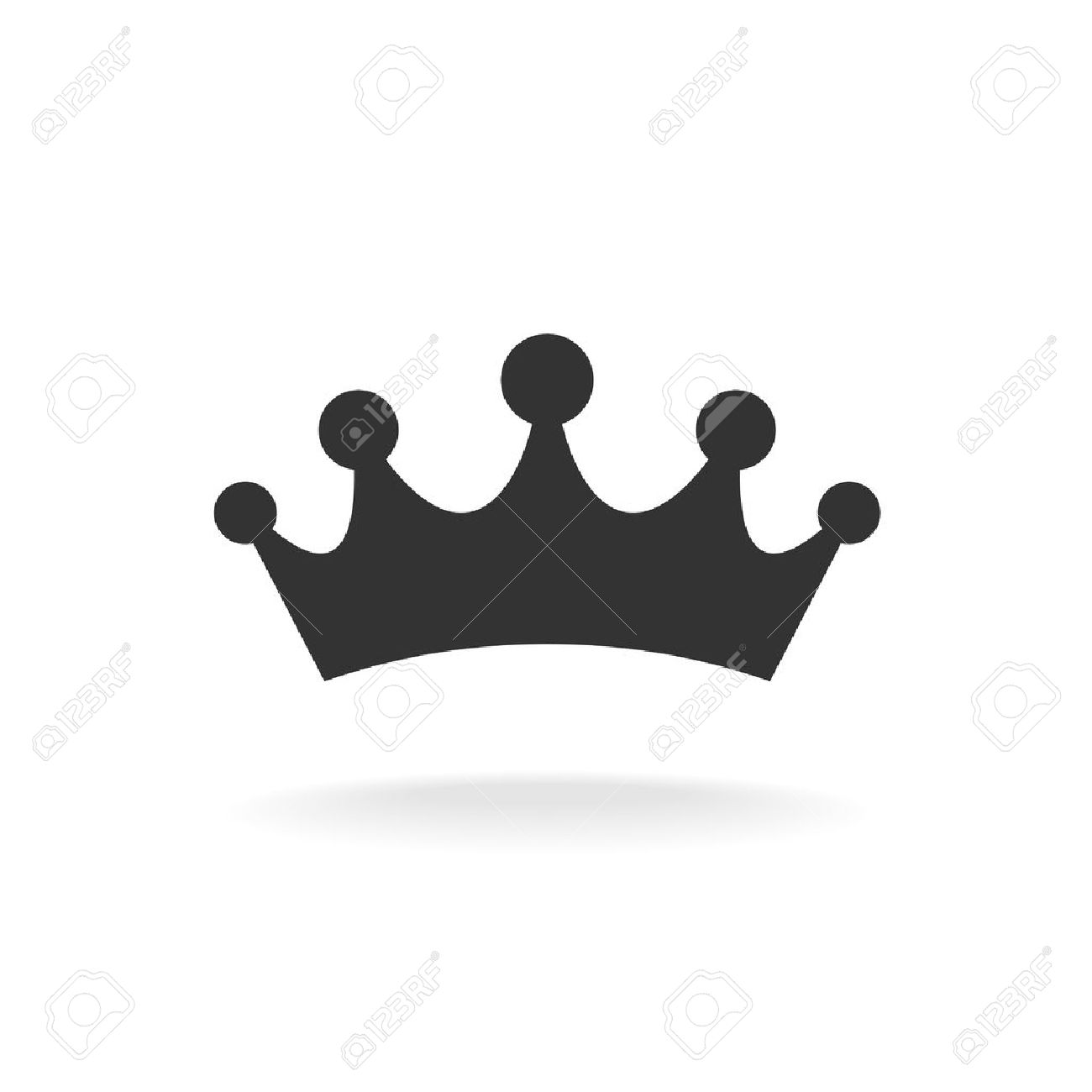 Corona De Conde Ilustración Vectorial Silueta Aislados Negro Sobre