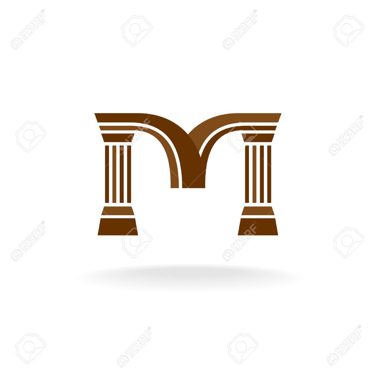 Letter M Logo With Columns. Architecture, Business, Lawyer Concept ...