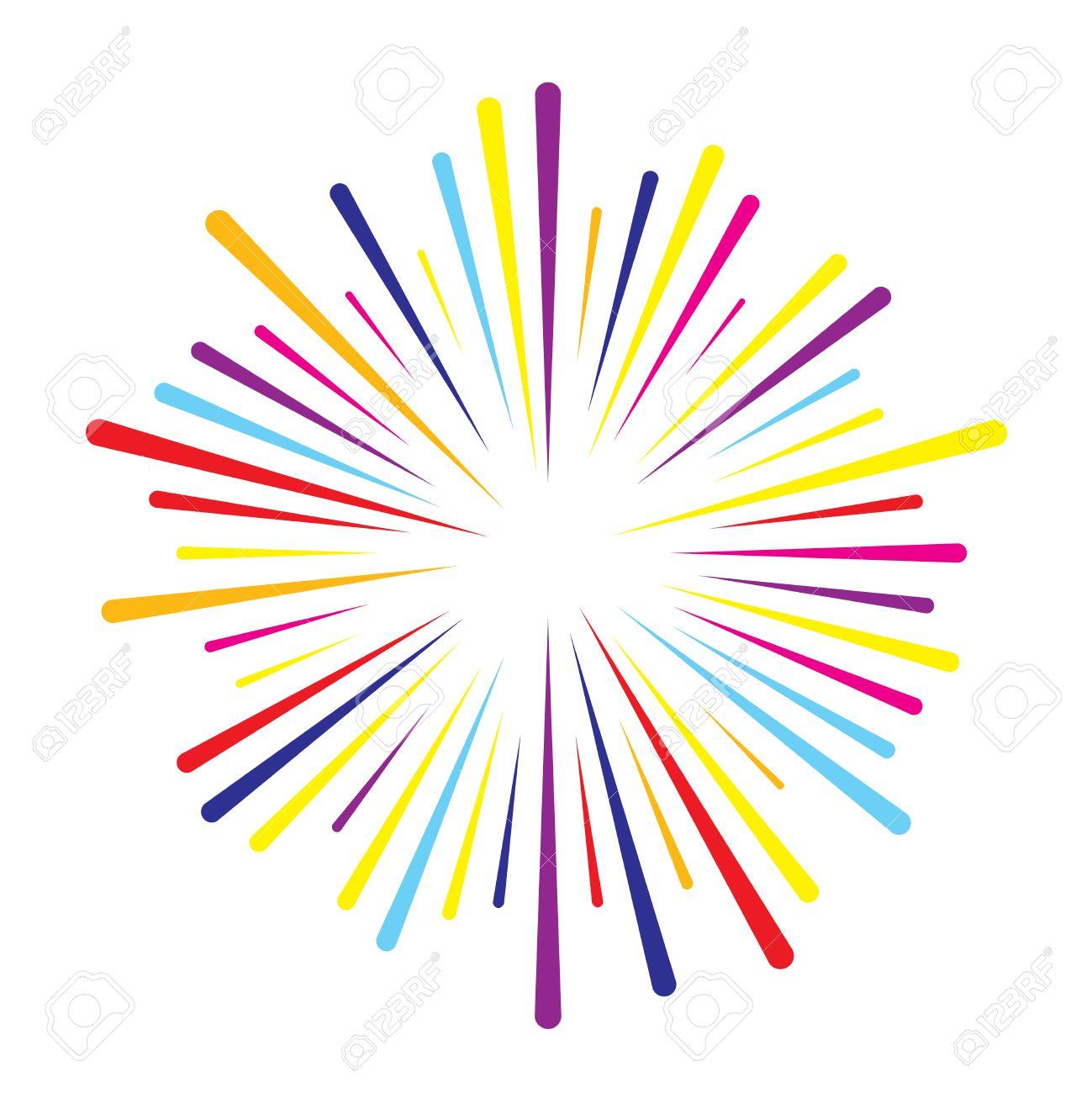 Lineas De Colores Vector De Salpicaduras De Fuegos Artificiales