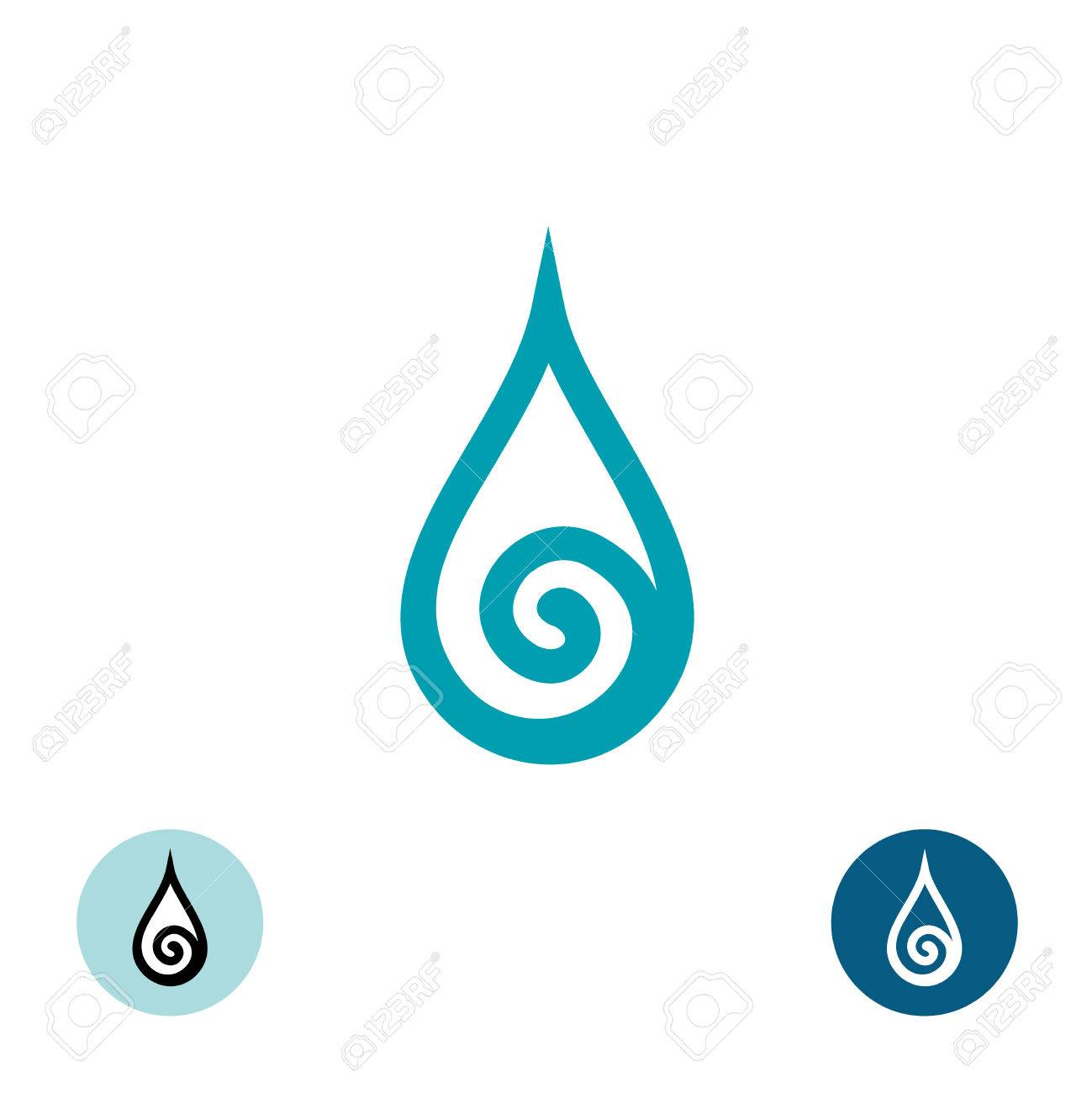 Water drop with spiral symbol royalty free cliparts vectors and water drop with spiral symbol stock vector 47969267 biocorpaavc Image collections