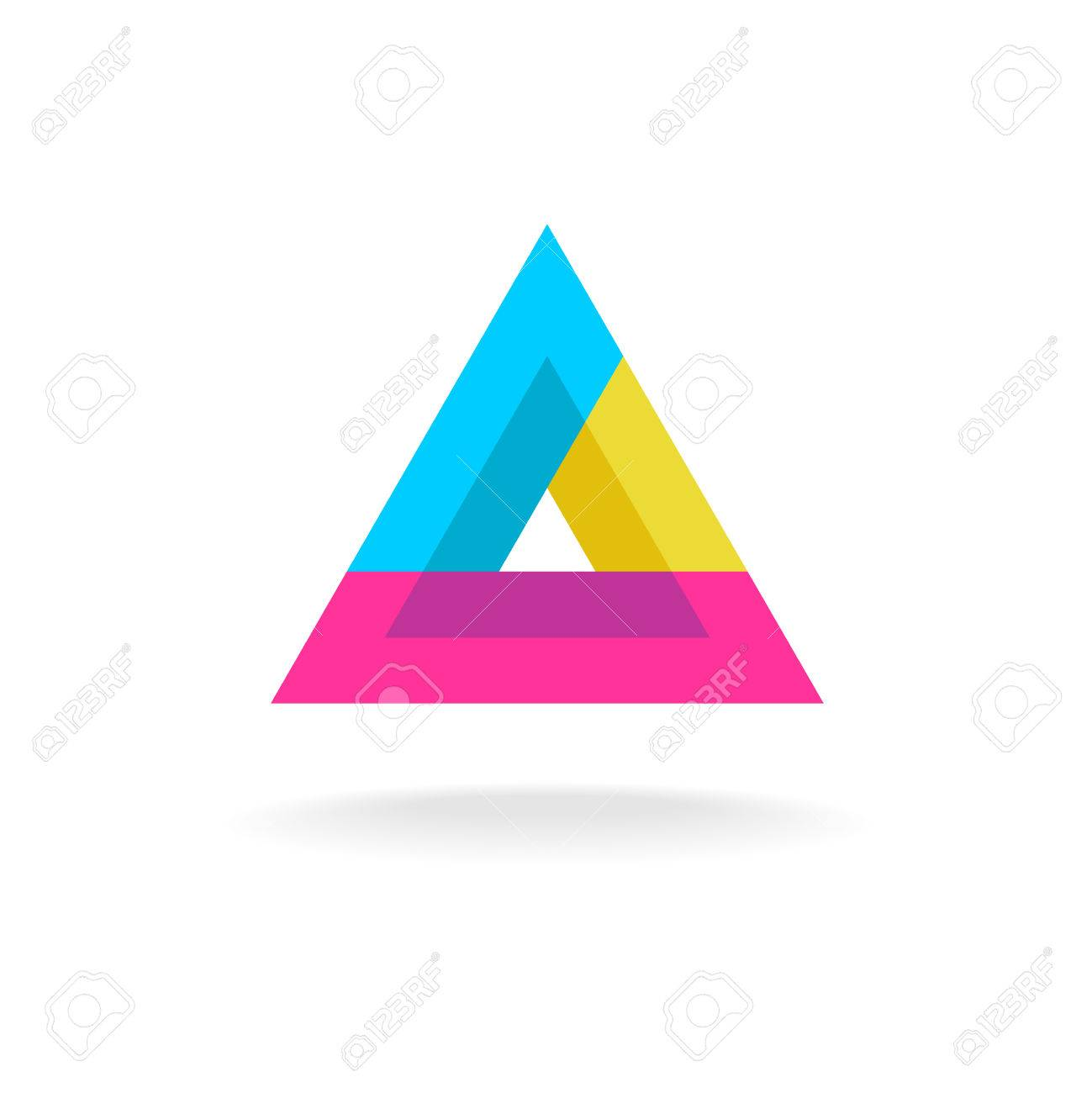 Colorful Triangle Abstract Delta Symbol Logo Royalty Free Cliparts