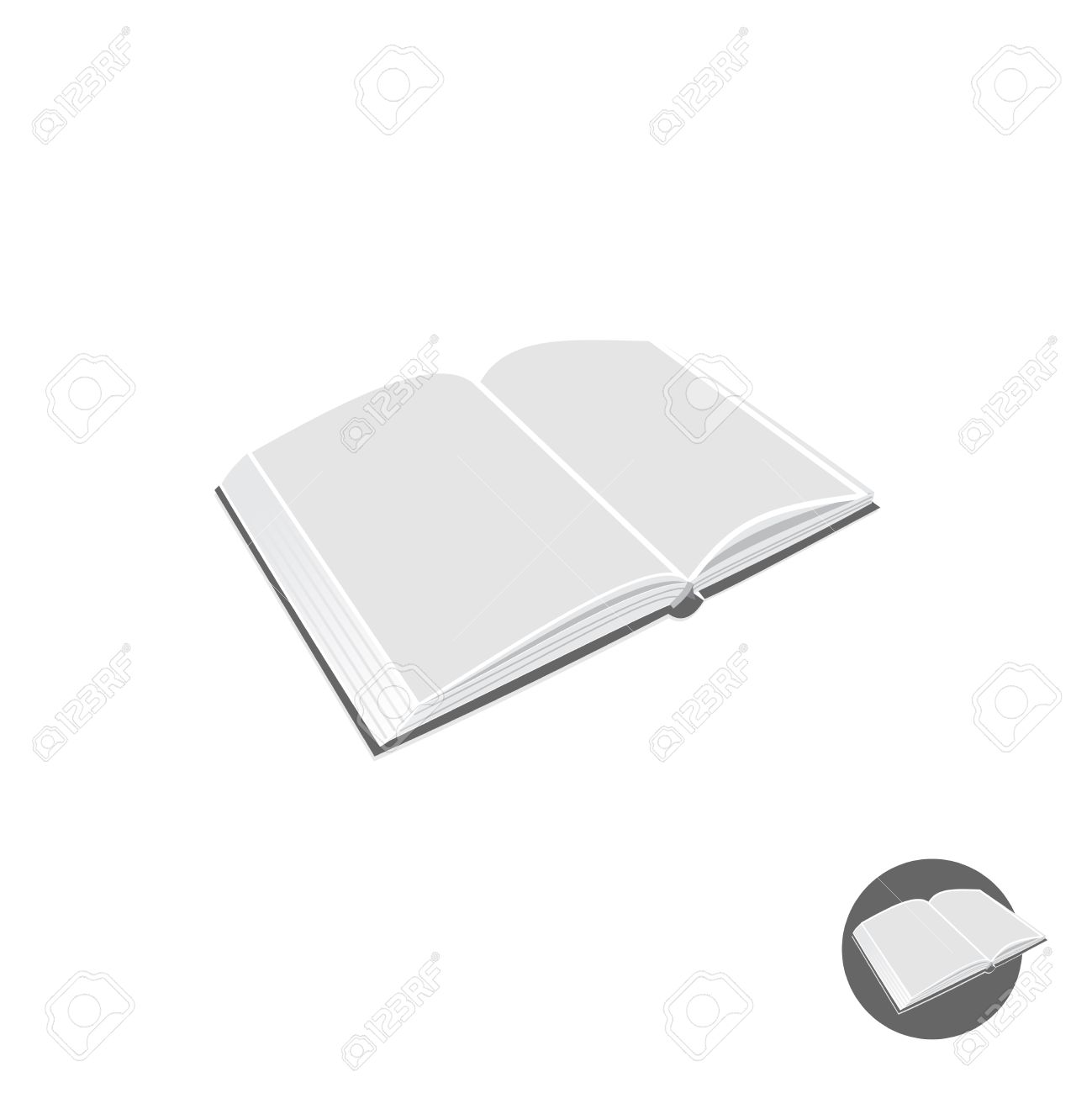 open book 3d perspective vector illustration royalty free cliparts