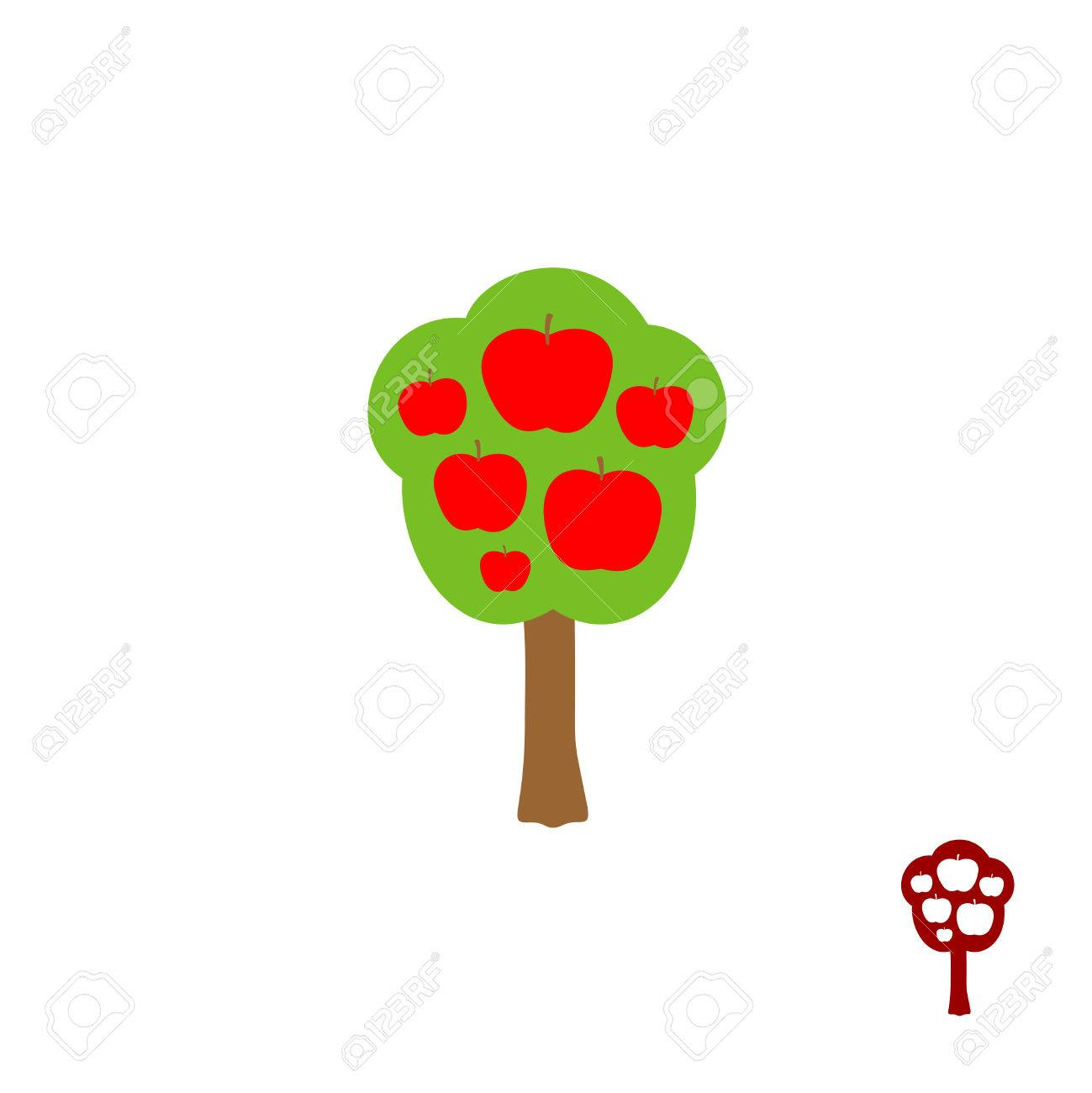 Fruit Apple Tree Logo Vector Royalty Free Cliparts Vectors And Stock Illustration Image 47972334
