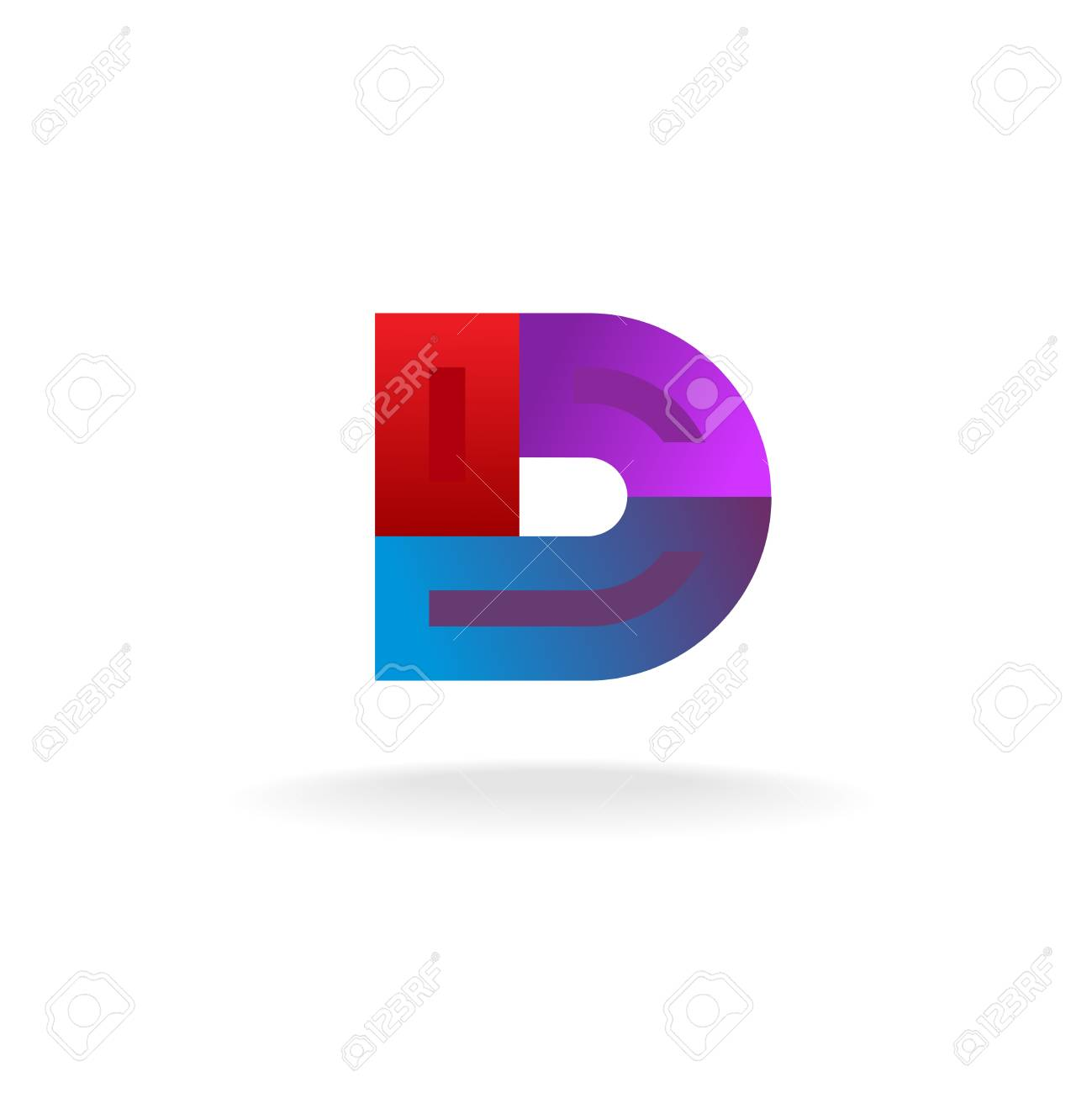 Colorful D letter logo template. Wide ribbons construction. Stock Vector -  47973079 4c48ee7ccb5a