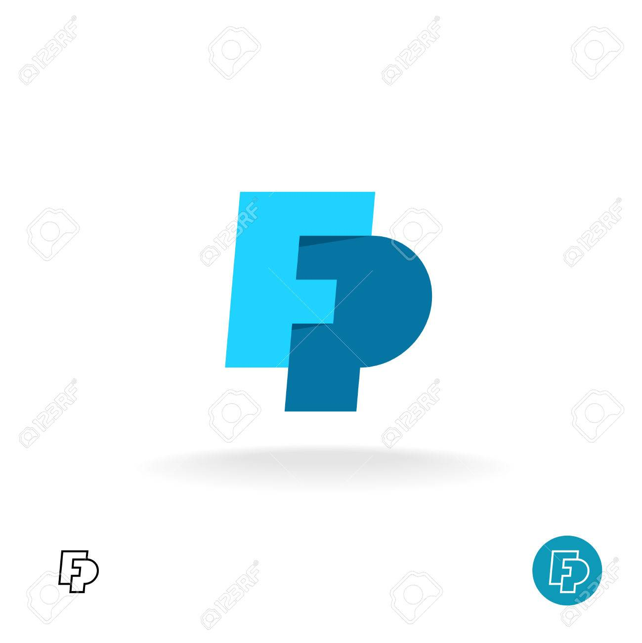F And P Letters Together Monogram Logo Royalty Free Cliparts ... 8e5fc6fc453f