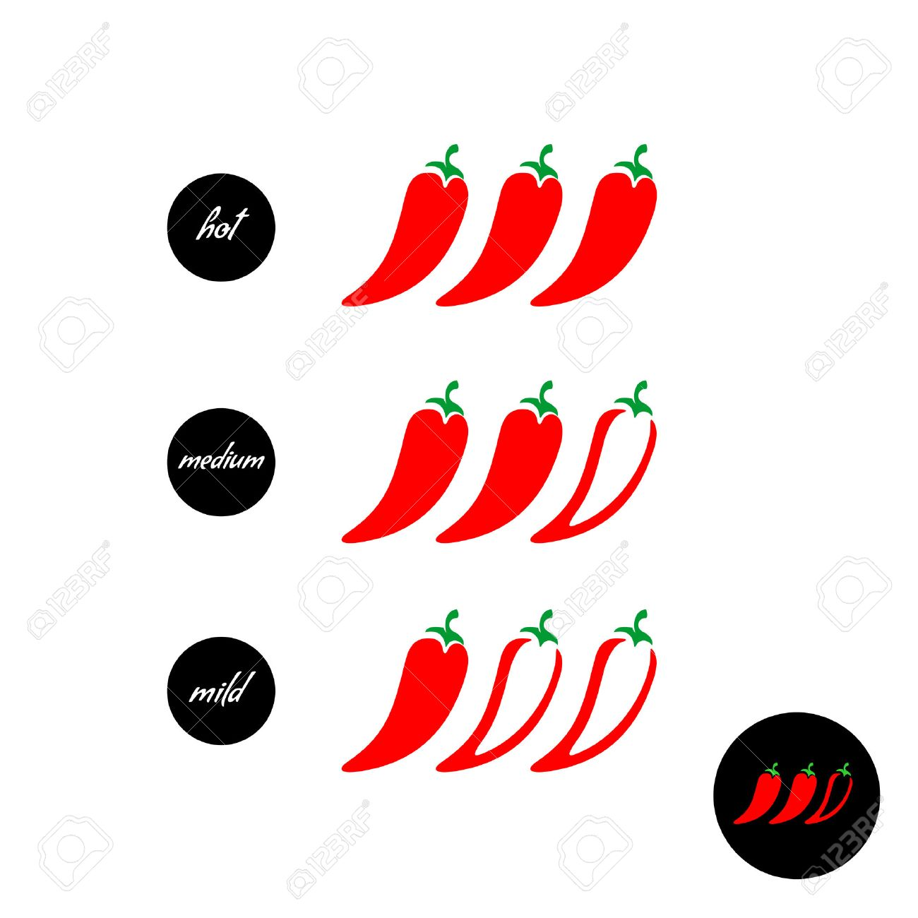 hot red pepper strength scale indicator with mild medium and rh 123rf com chili pepper coloring pages chili pepper logos