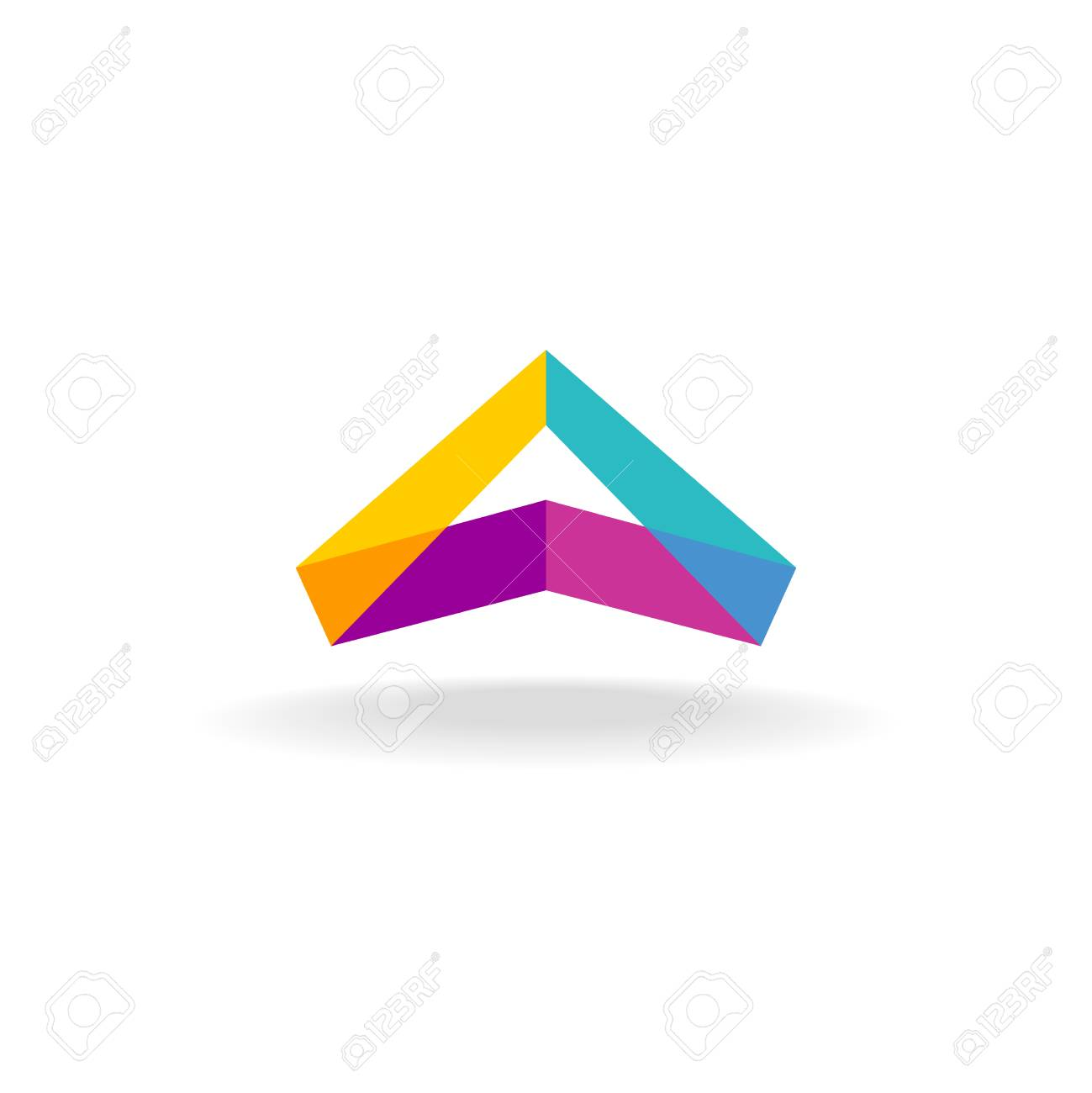 Abstract triangle 3D colorful triangle geometric ribbon logo Stock Vector -  46449077 dcdf00c9c1c5