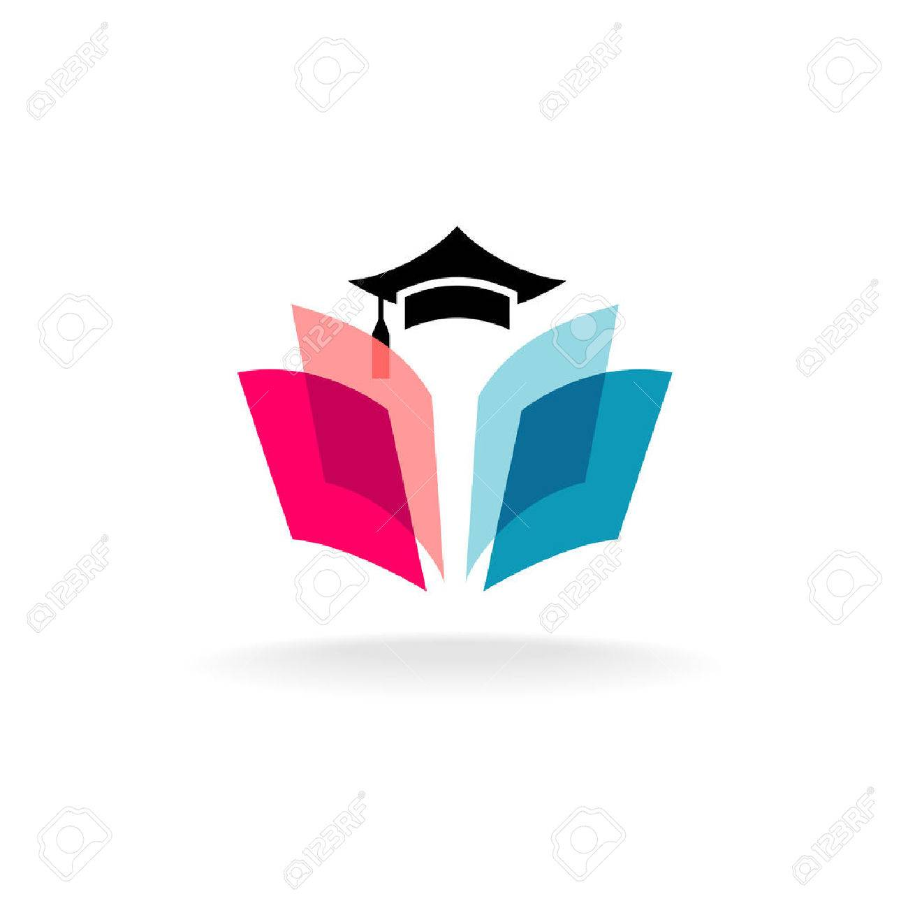 Education concept with graduation cap and open book pages. Transparency are flattened. Stock Vector - 49334981
