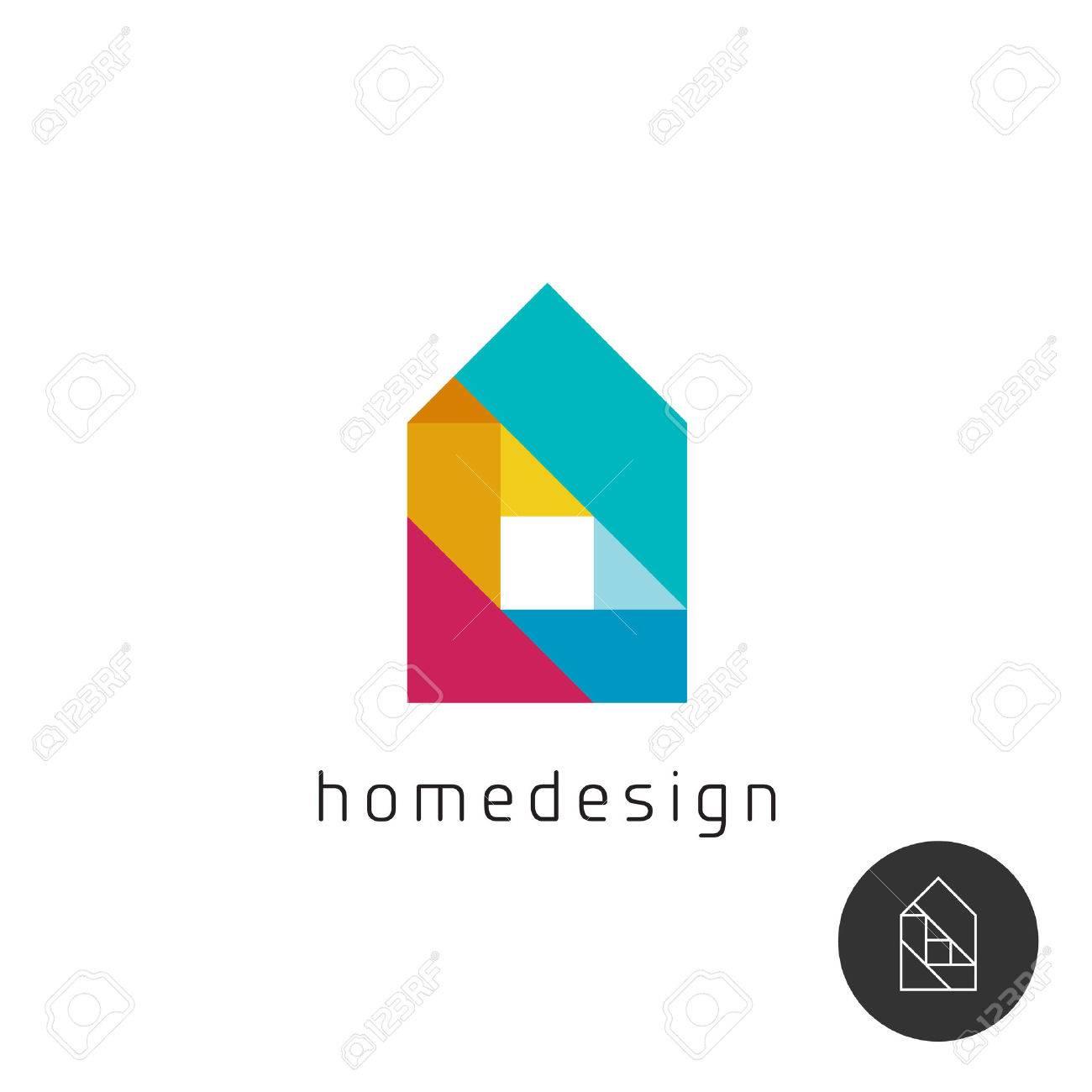 house design concept colorful rainbow geometric elements royalty house design concept colorful rainbow geometric elements stock vector 49334946