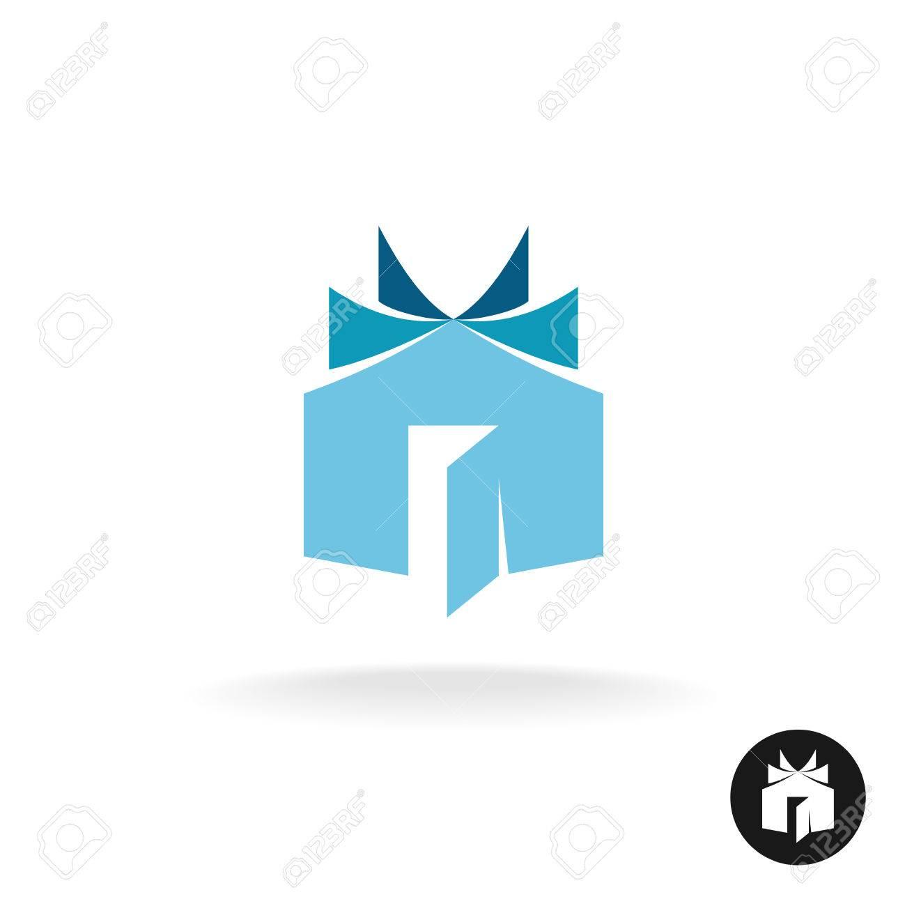 Bücher Haus Idee Symbol Vorlage. Haus Gebäude Mit Offenen Buch ...