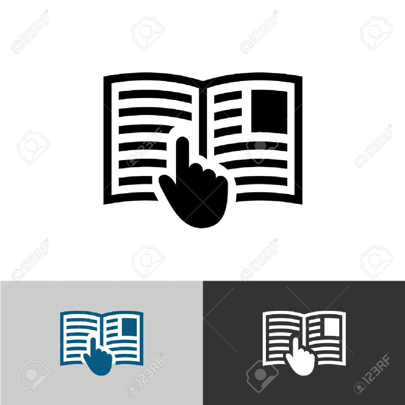 instruction manual icon open book pages with text images and rh 123rf com Instruction Manual Book Owner's Manual