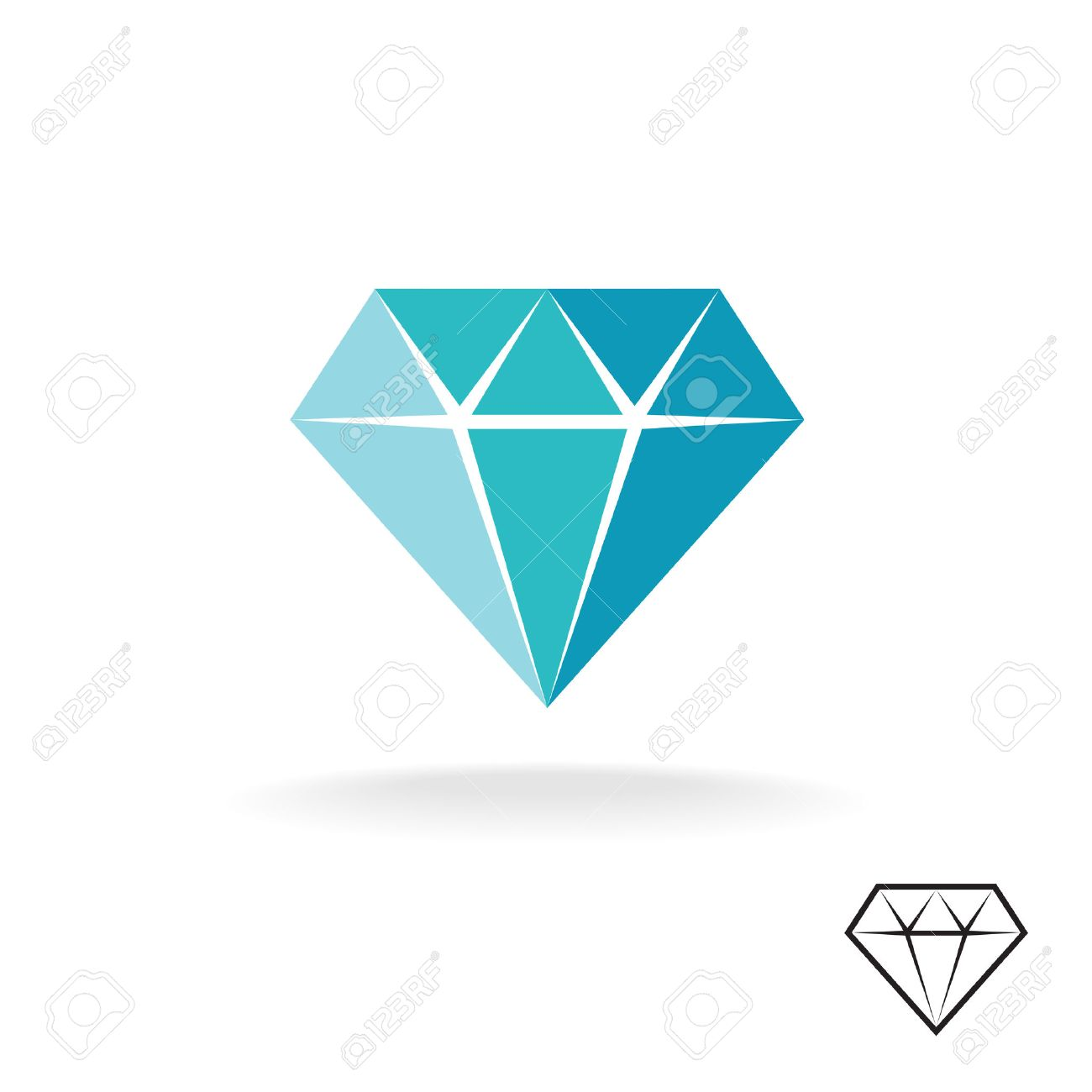 stock linaflerova diamond icon vector by illustration stylized depositphotos logo